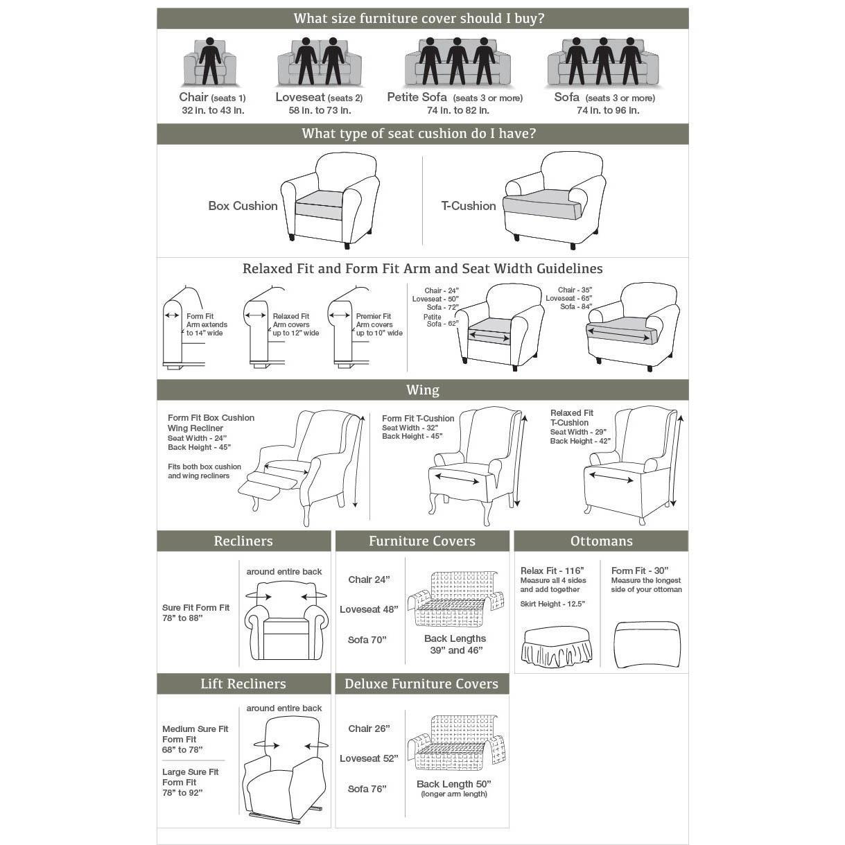 Sure Fit Stretch Plush Black Loveseat Slipcover – Walmart Inside Black Slipcovers For Sofas (Image 20 of 20)