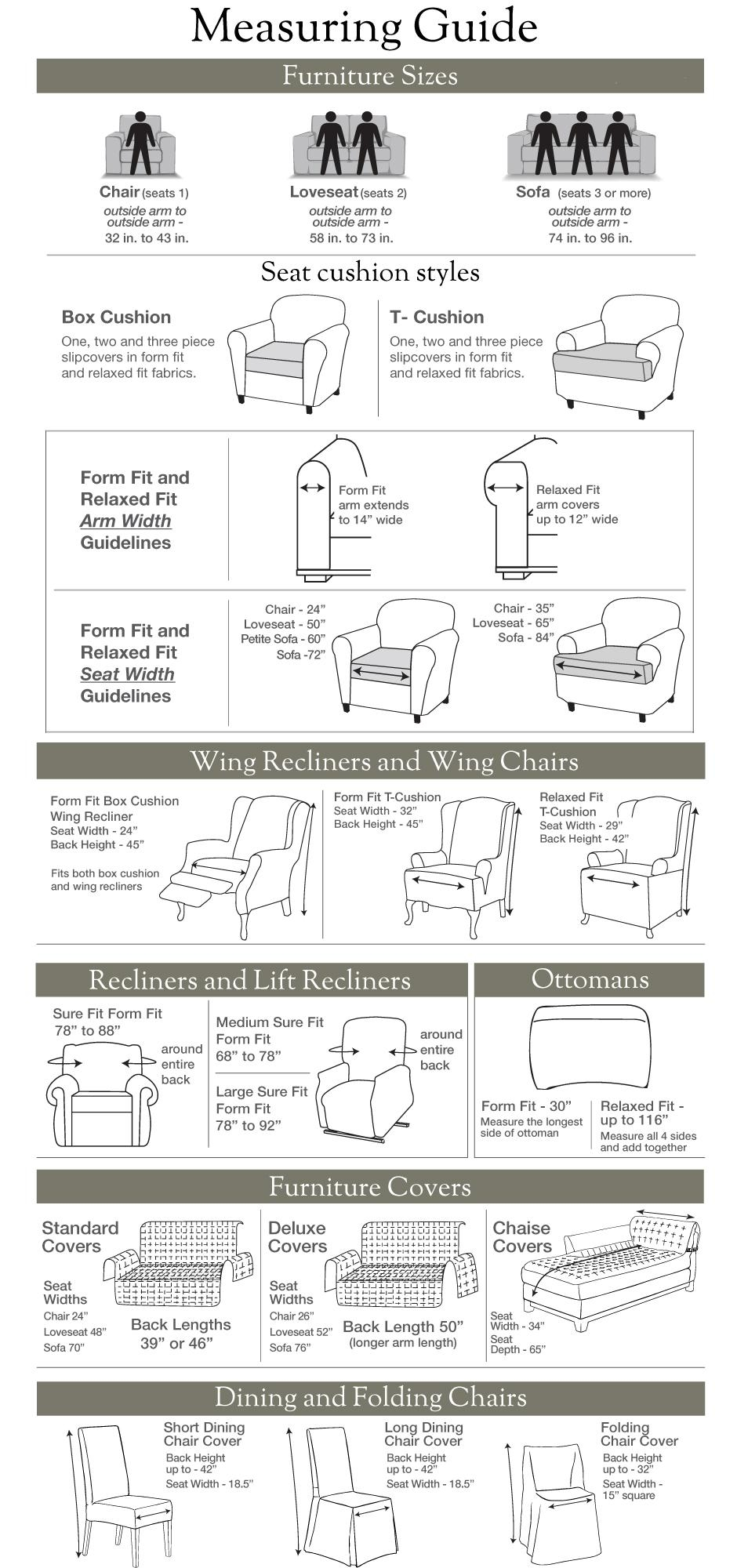 Sure Fit – Stretch Suede Separate Seat Inside Suede Slipcovers For Sofas (View 20 of 20)