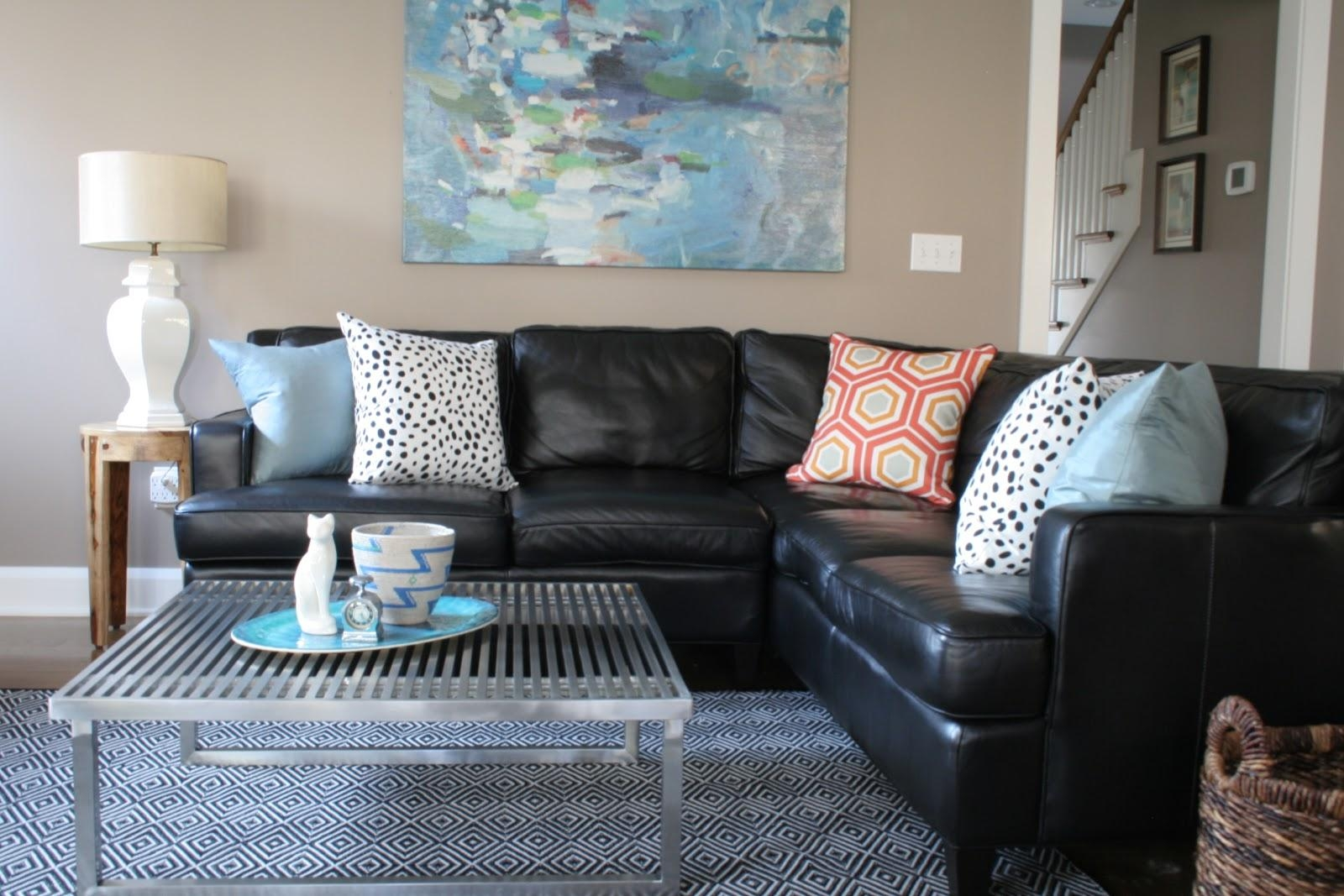 Surprising Living Room Ideas With Leather Sectional Grey Brown With Sectional Sofa Ideas (Image 20 of 20)