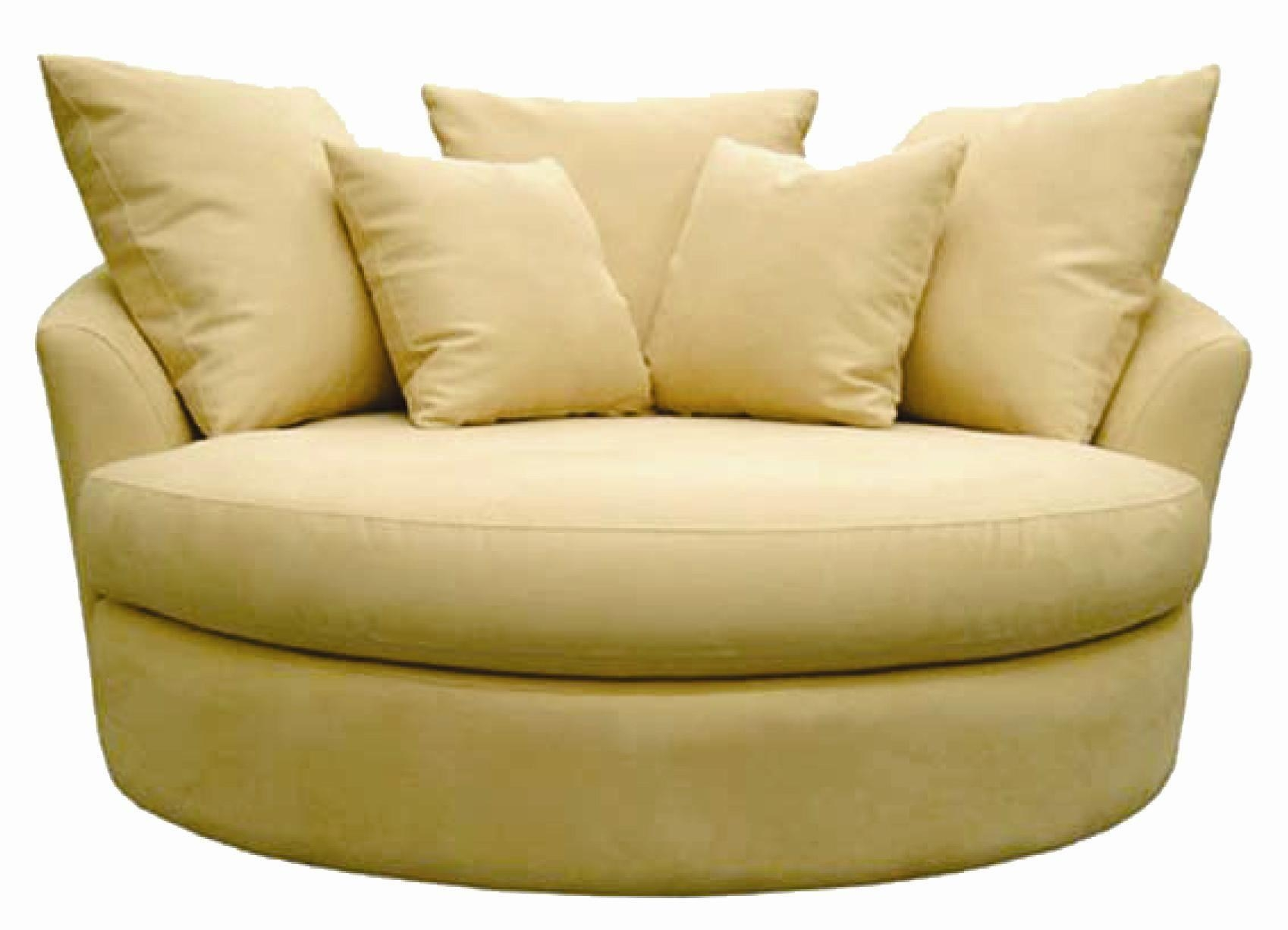 Surprising Round Swivel Sofa Chair Armchairs And Oversized Living Throughout Cuddler Swivel Sofa Chairs (Image 17 of 20)