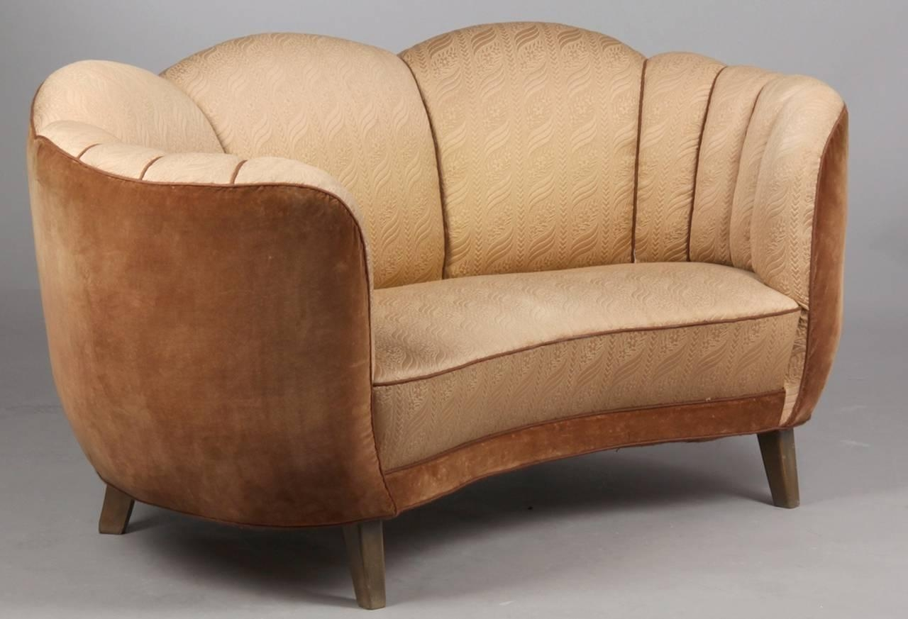 Swedish Art Deco Curved Sofa At 1Stdibs Pertaining To Art Deco Sofa And Chairs (View 11 of 20)