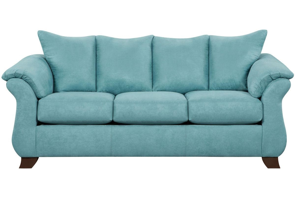 Taffy Microfiber Sofa Regarding Green Microfiber Sofas (Image 19 of 20)