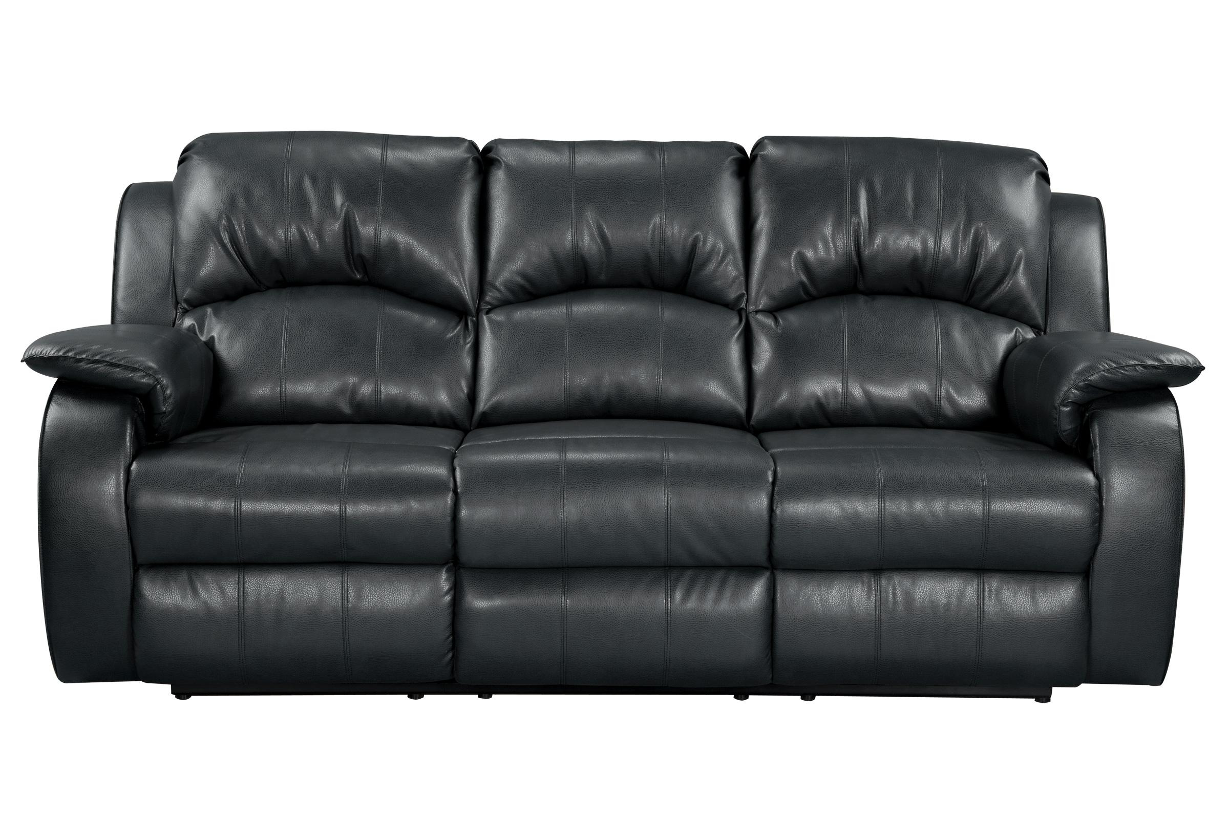 Tahoe Bonded Leather Reclining Sofa For Black And White Sofas (View 20 of 20)
