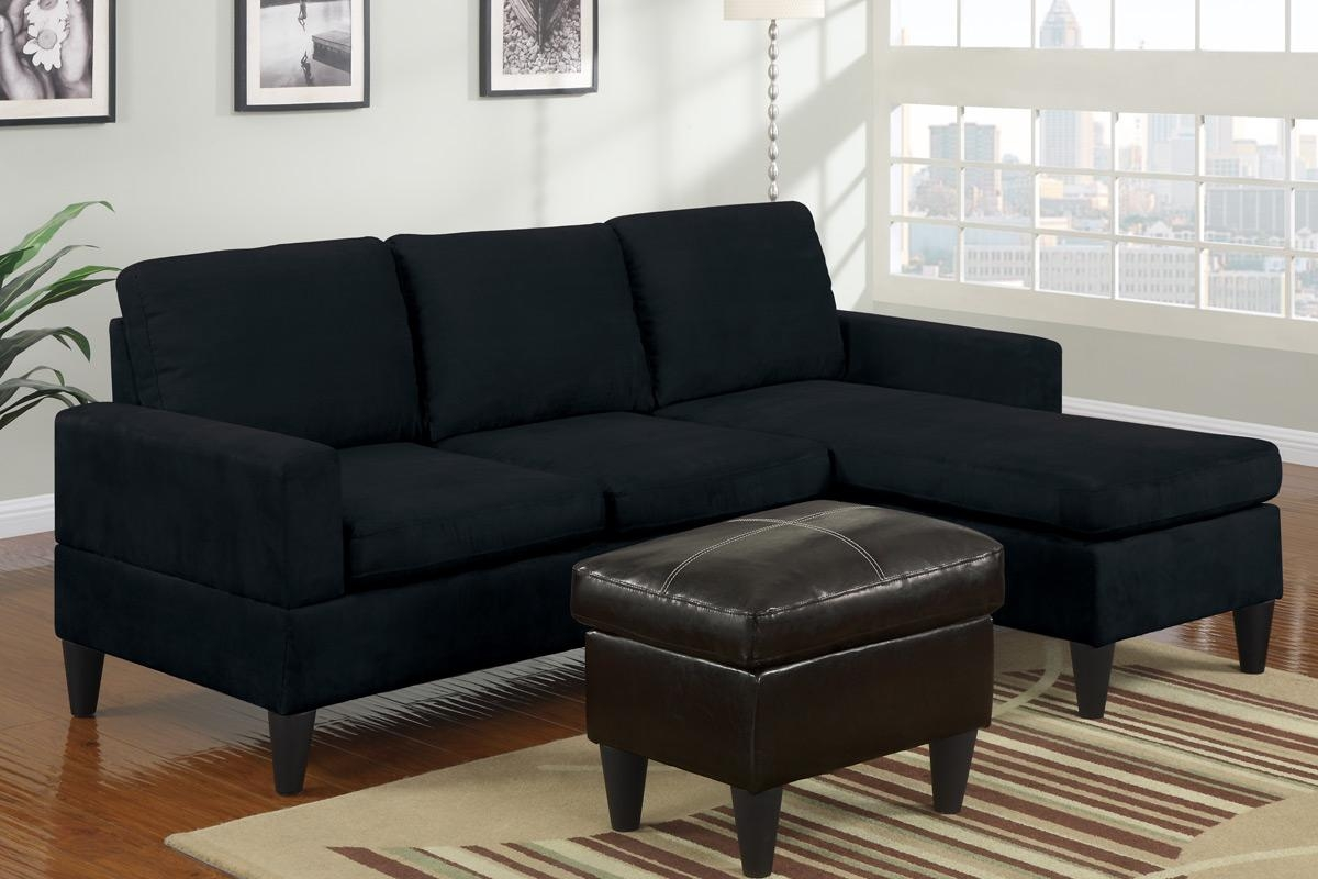 Tan Microfiber Sectional Sofa W Reversible Chaise Lounge Living Within Black Microfiber Sectional Sofas (View 9 of 20)