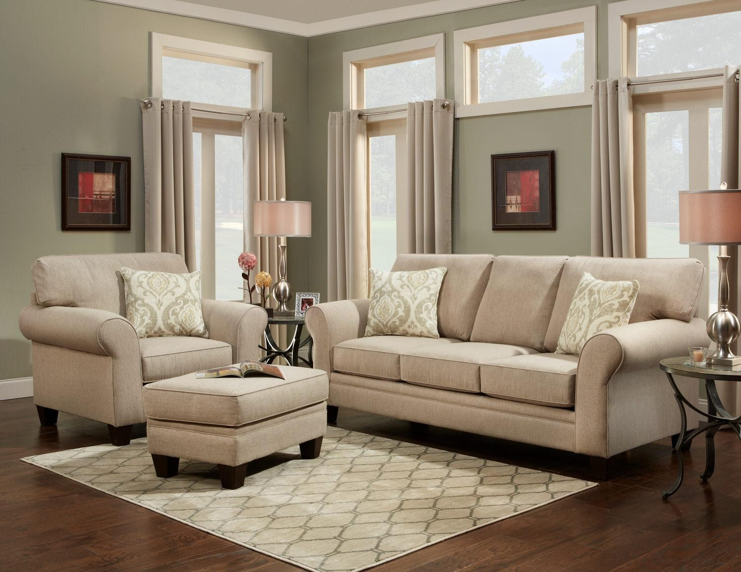 Tangle 3 Piece Room Package (Sofa, Chair And Ottoman) | Hom With Regard To Sofa Chair And Ottoman (Image 18 of 20)