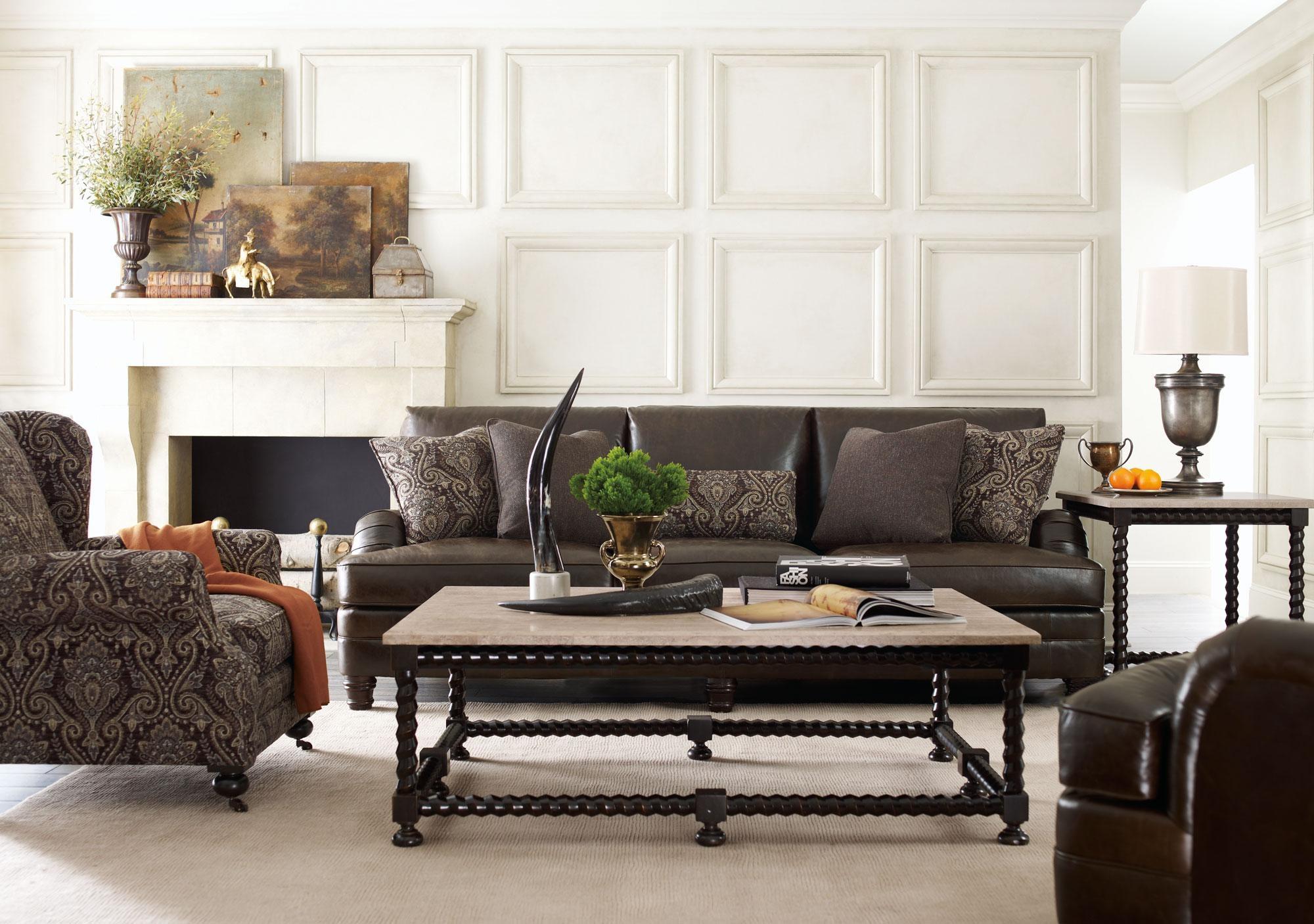 Tarleton Sofa, Justin Chair, Cordova Tables | Bernhardt Within Bernhardt Tarleton Sofas (Image 20 of 20)