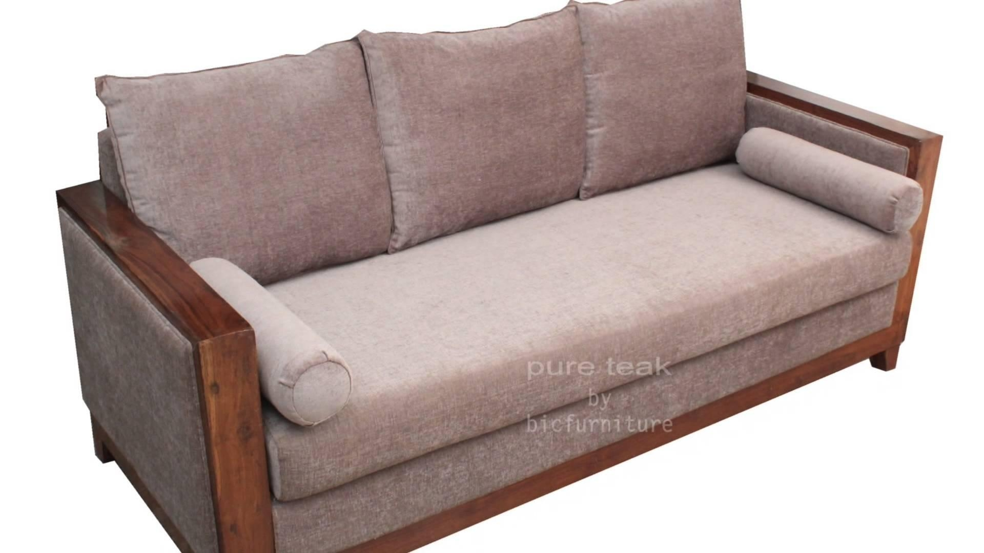 Teak Wood Sofa Set For Living Room With Comfortable Angles | Visit Within Comfortable Sofas And Chairs (View 4 of 20)