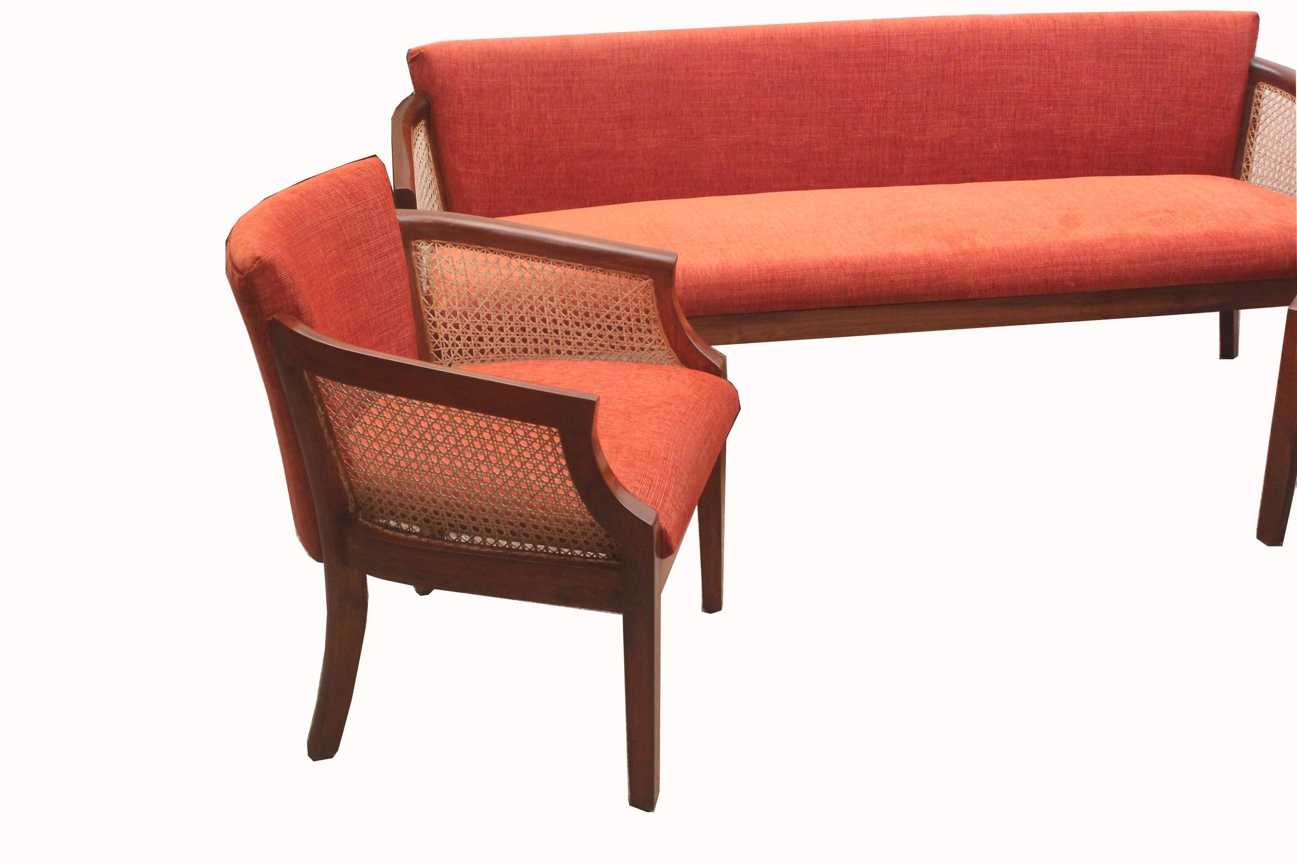 Teakwood Cushion Cane Sofa Set (Ws 98) Details | Bic Furniture India With Regard To Cane Sofas (View 13 of 20)