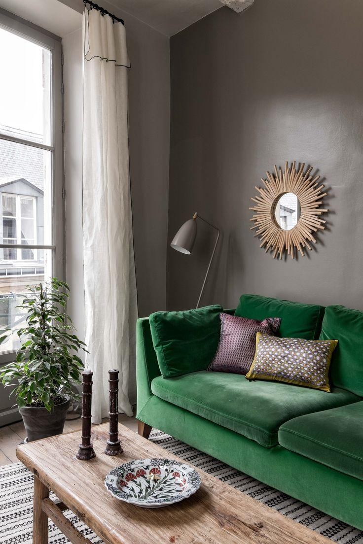 The 25+ Best Green Sofa Ideas On Pinterest | Green Living Room Pertaining To Green Sofa Chairs (View 20 of 20)