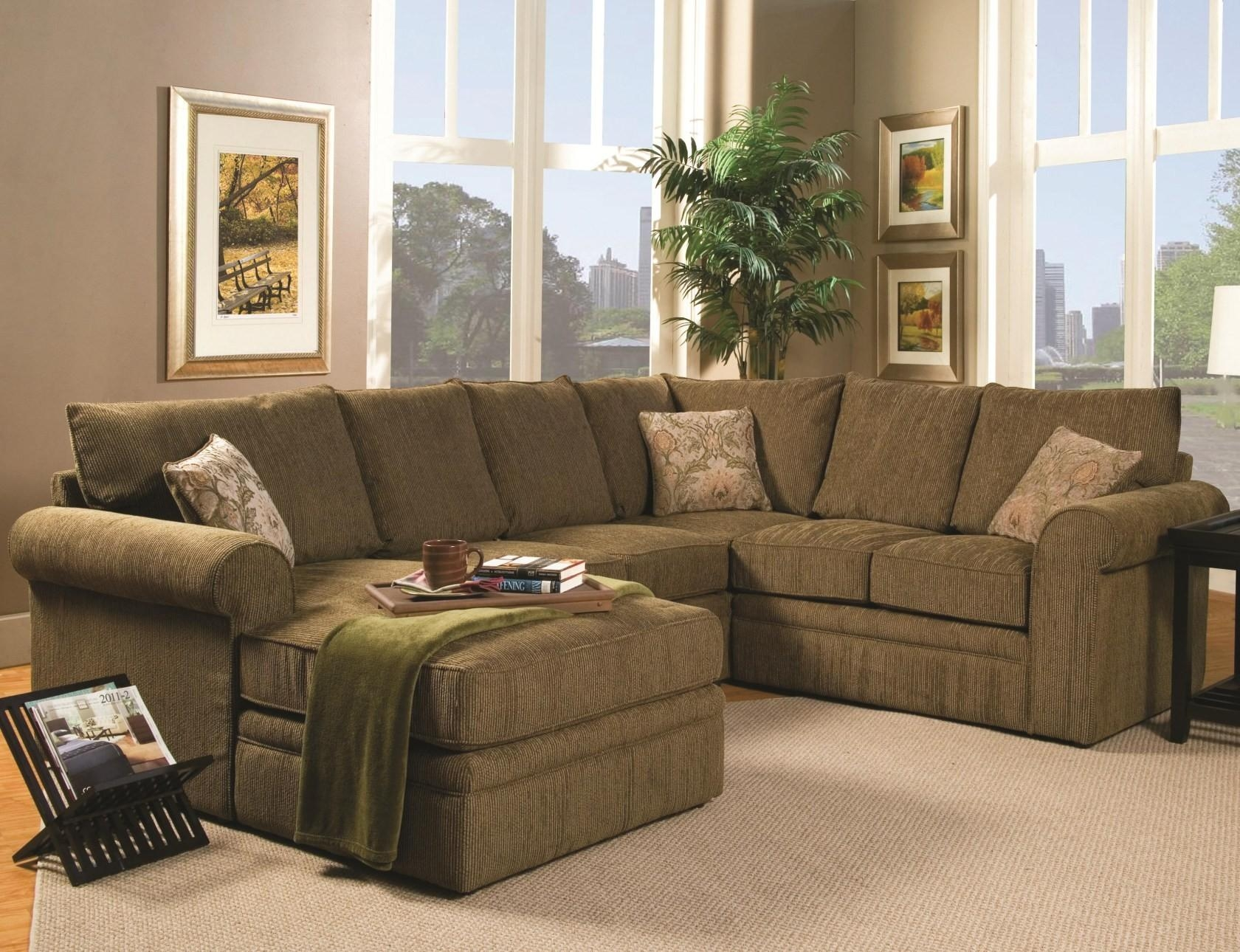 The Big Room For U Shaped Leather Sectional Sofa : S3Net Pertaining To Green Sectional Sofa With Chaise (Image 15 of 15)
