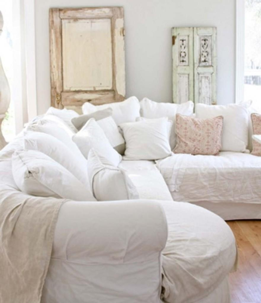 The Broad Arm Leather Corner Sofaindigo Furniture | Tehranmix With Shabby Chic Sectional Sofas Couches (View 8 of 21)