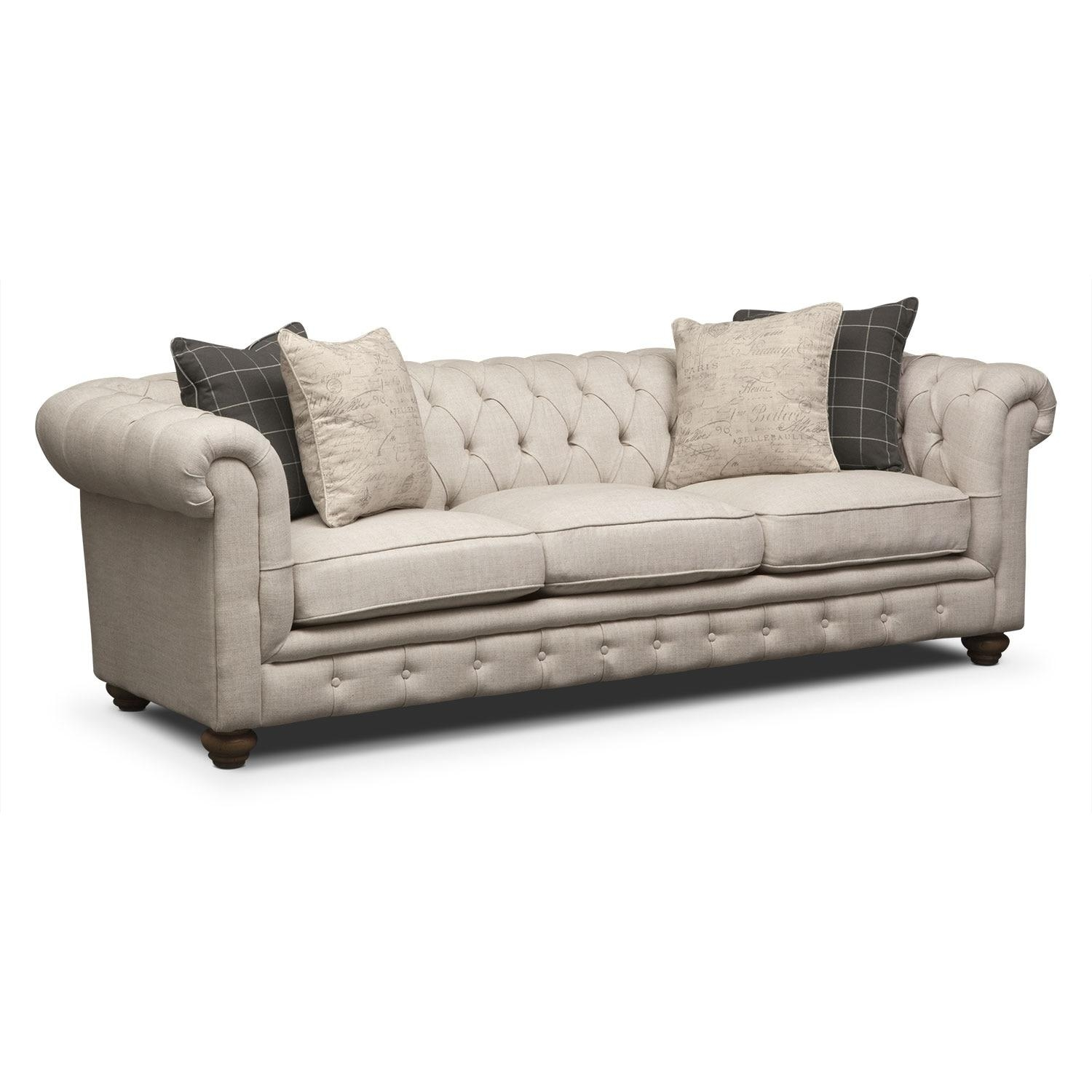 The Madeline Collection – Beige | Value City Furniture Regarding Value City Sofas (Image 19 of 20)