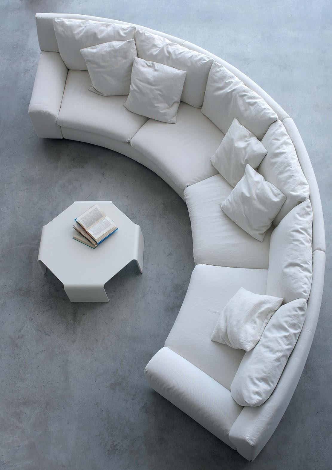 The Semicircular Sofa In Fabric Ben Ben, Arflex – Luxury Furniture Mr Inside Semicircular Sofa (Image 20 of 20)