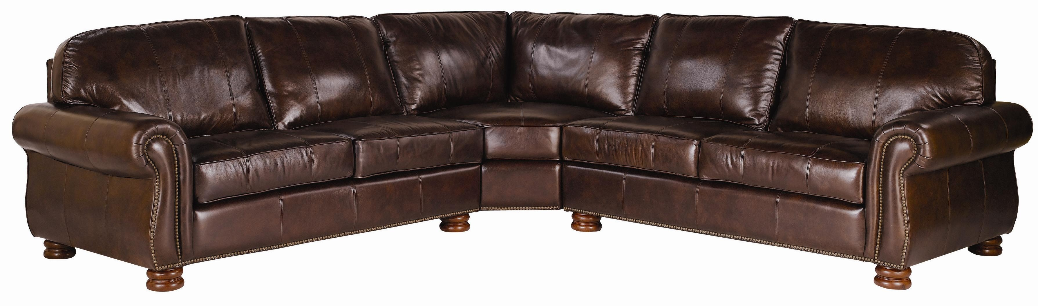Thomasville Leather Choices Benjamin Select 3 Piece Regarding Sectionals Image