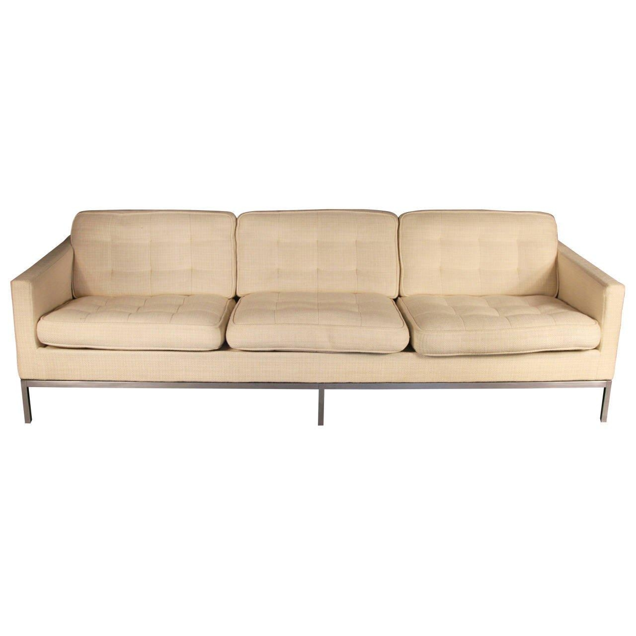 Three Seater Sofaflorence Knoll At 1Stdibs Within Florence Knoll Wood Legs Sofas (Image 20 of 20)
