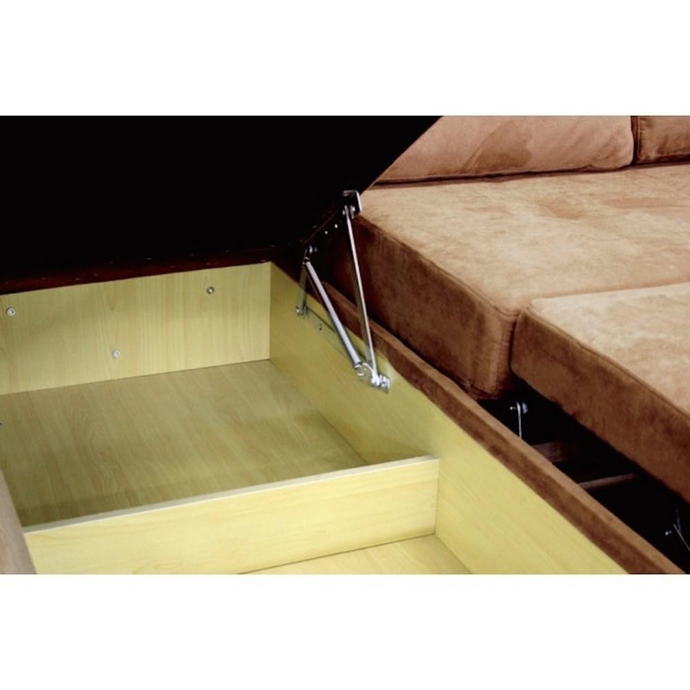 Thy Hom 4114Lfc Saleen Microsuede Sectional Sofa Bed With Storage Inside Sectional Sofa Bed With Storage (Image 18 of 20)