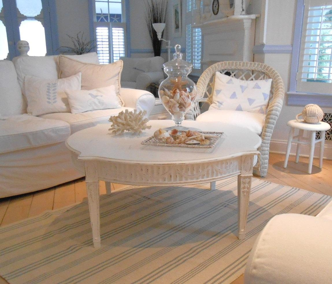 Timeless Rectangle Grey Wood Table Simple White Wall Leather – Ftfpgh With Shabby Chic Sofa Tables (View 12 of 20)