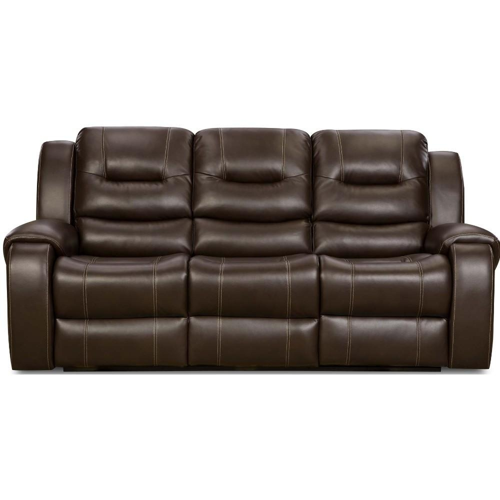 Titan Reclining Sofa – Chocolate (7140630) : Living Room Furniture Throughout Corinthian Sofas (View 16 of 20)