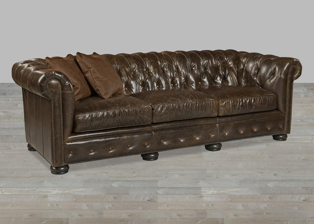 Tobacco Leather Chesterfiled Style Sofa Regarding Brompton Leather Sofas (View 16 of 20)