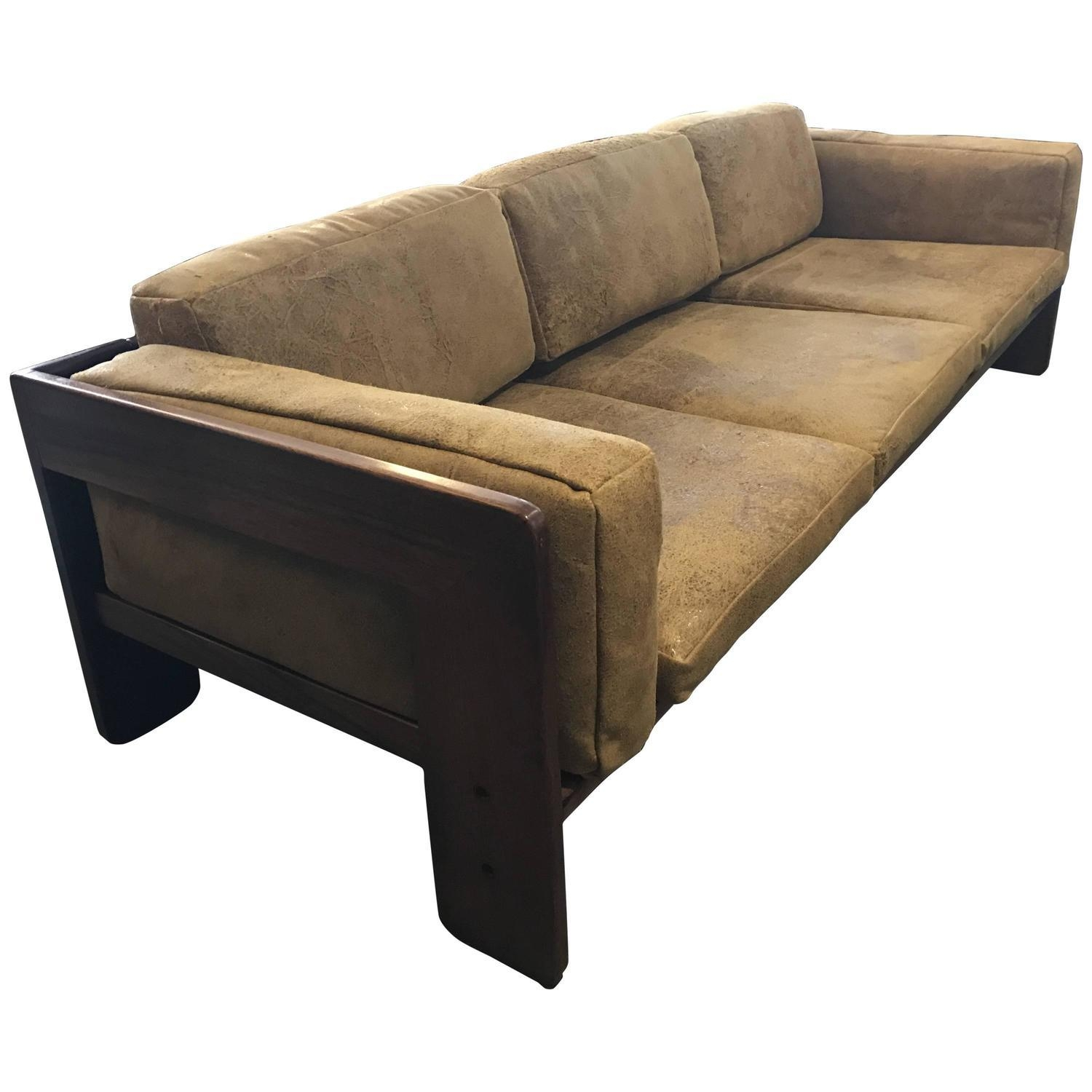 Tobia Scarpa Knoll Bastiano Rosewood Sofa Vintage Leather Cushions Pertaining To Knoll Sofas (Image 18 of 20)