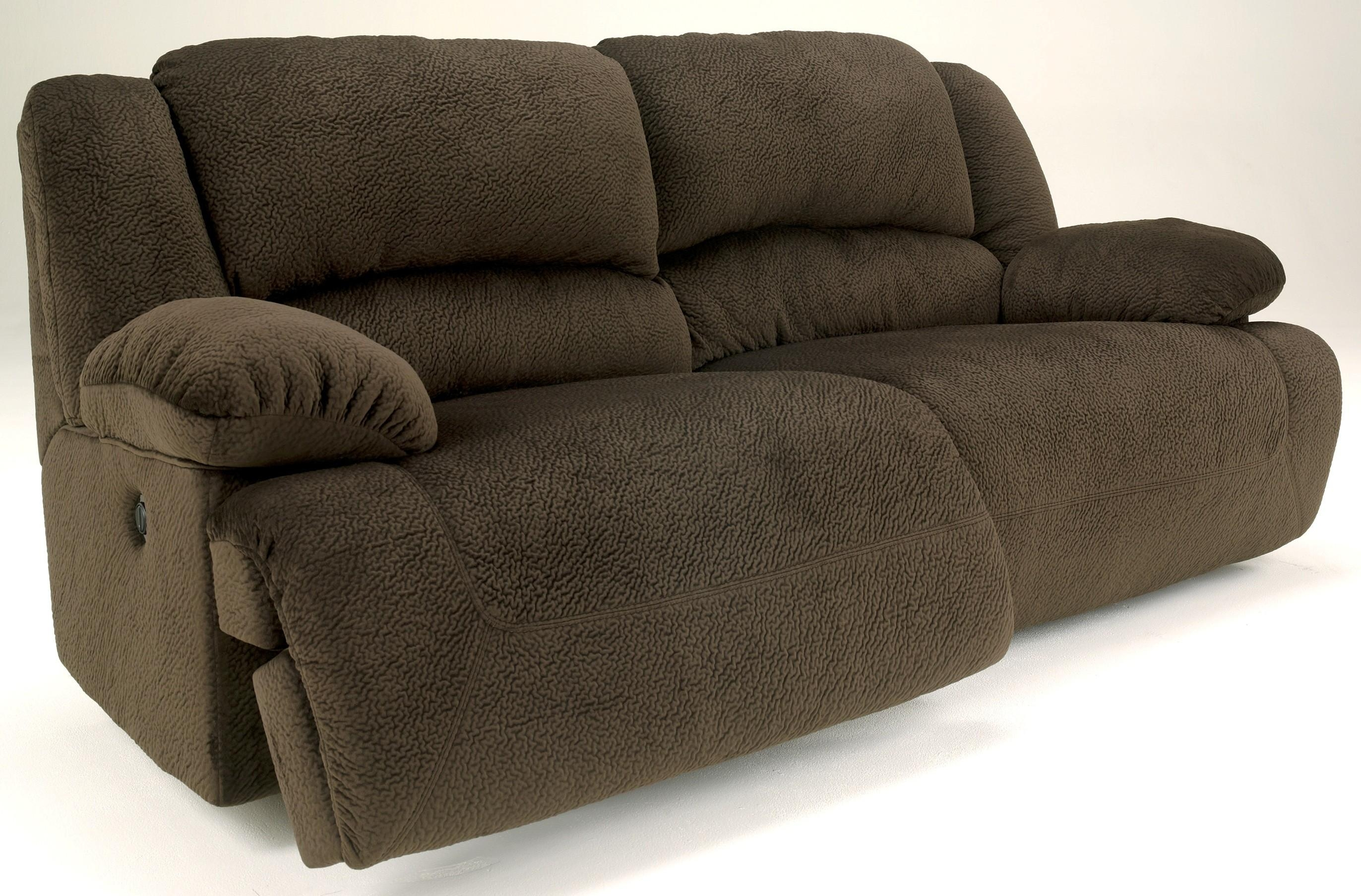 Toletta Chocolate 2 Seat Power Reclining Sofa From Ashley (5670147 Inside 2 Seat Recliner Sofas (View 19 of 20)