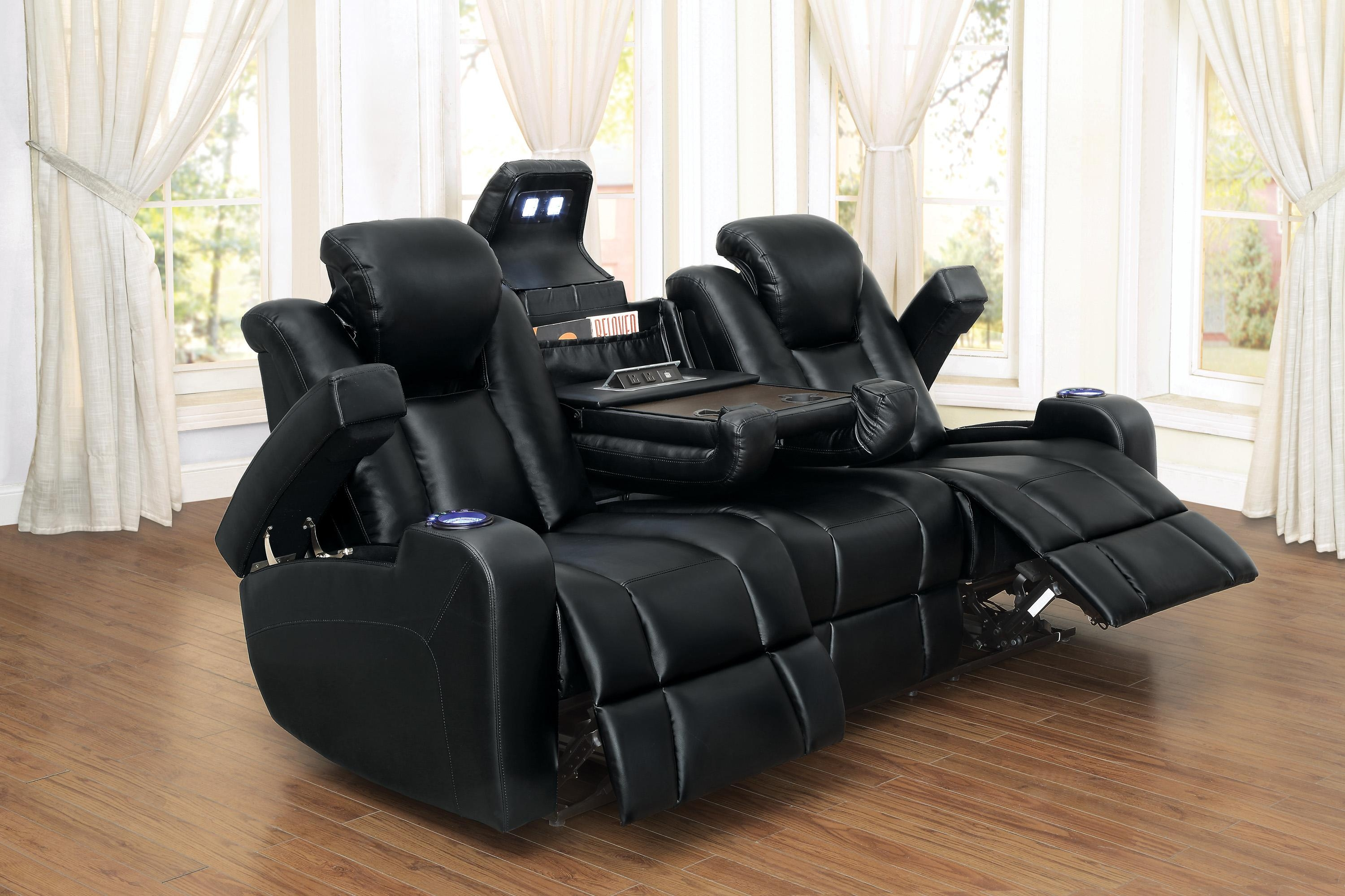 Tony Home Theatre Collection Led Lighting Cup Holders Adjustable For Sofas With Cup Holders (Image 20 of 20)