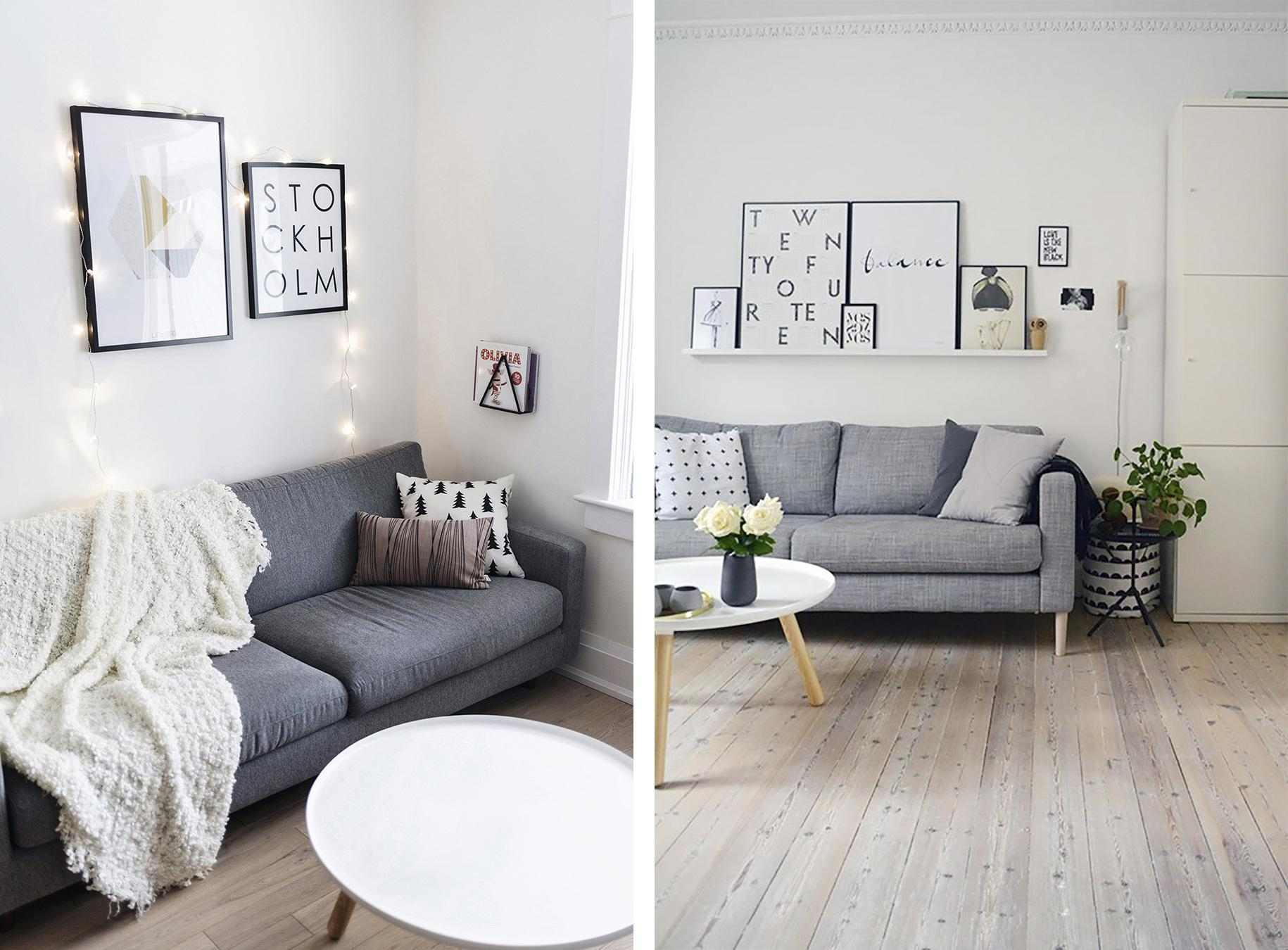 Top 10 Tips For Adding Scandinavian Style To Your Home | Happy In Living Room With Grey Sofas (Photo 18 of 20)