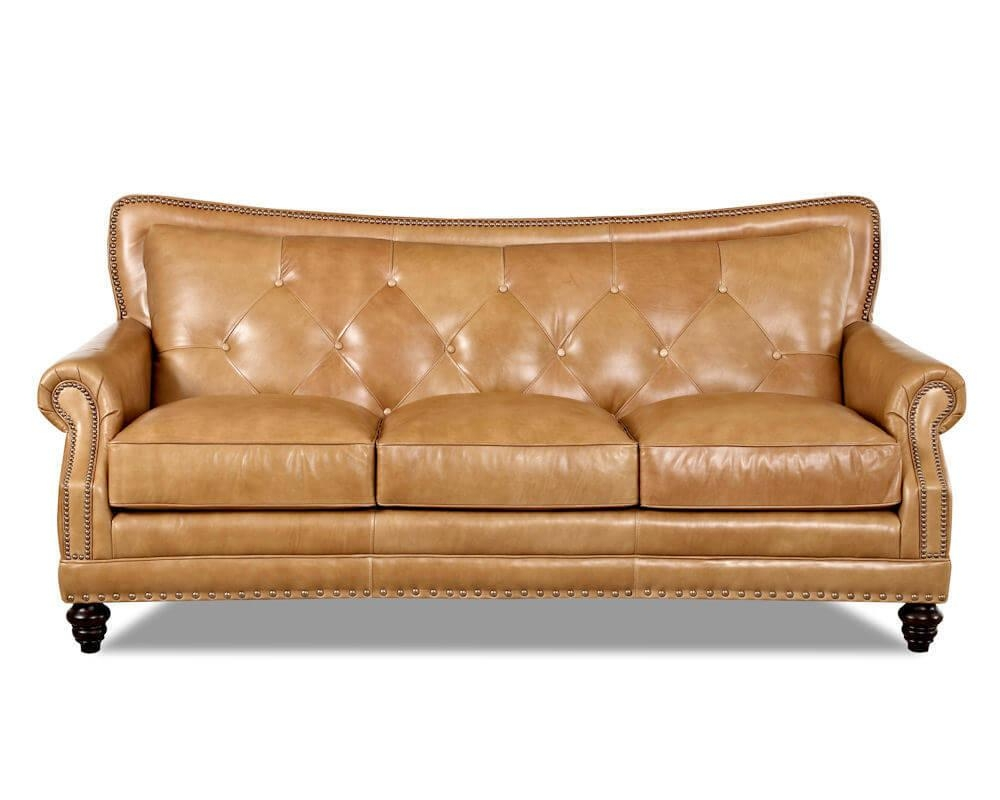 Top Grain Full Aniline Leather Sofas | Davis Top Grain Leather 7010 Inside Aniline Leather Sofas (Image 18 of 20)
