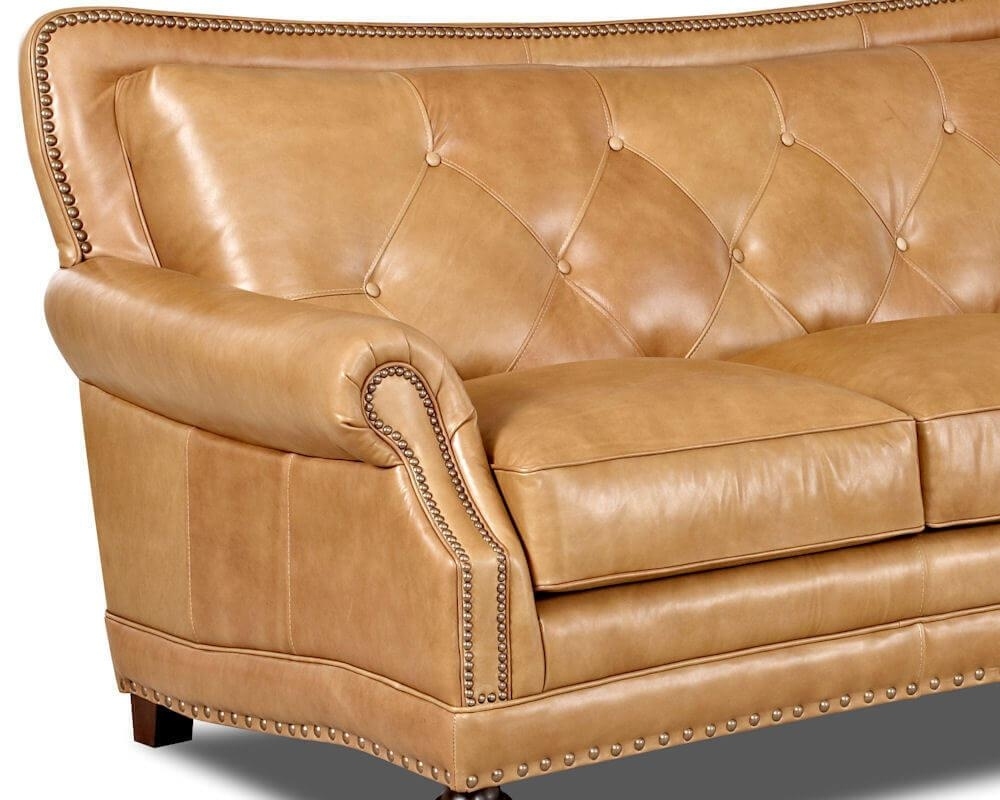 Top Grain Full Aniline Leather Sofas | Davis Top Grain Leather 7010 With Aniline Leather Sofas (Image 20 of 20)
