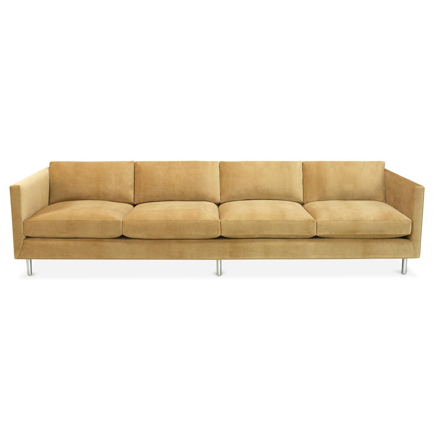 Topanga Four Seater Sofa | Modern Furniture | Jonathan Adler Within Four Seater Sofas (Image 19 of 20)