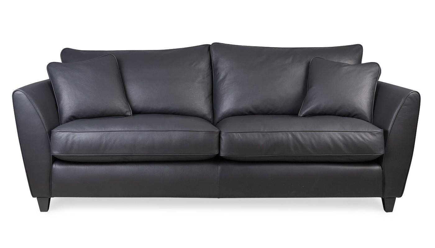 Torino 4 Seater Leather Sofa In 4 Seat Leather Sofas (Image 18 of 20)