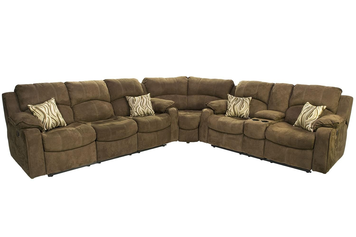 Tornado Reclining Sofa & Reclining Console Loveseat Sectional In Throughout Media Sofa Sectionals (Image 20 of 20)