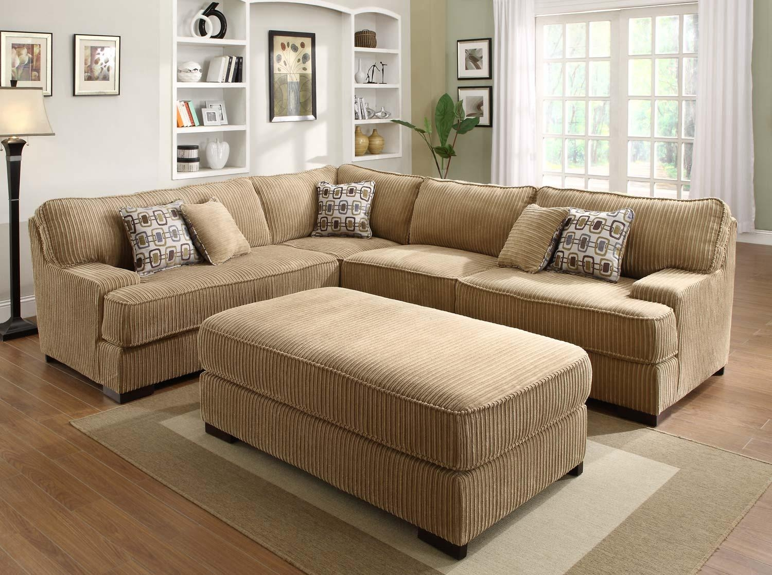 Tosh Furniture Gray Fabric Sectional Sofa – S3Net – Sectional Intended For Wide Sectional Sofa (Image 20 of 20)