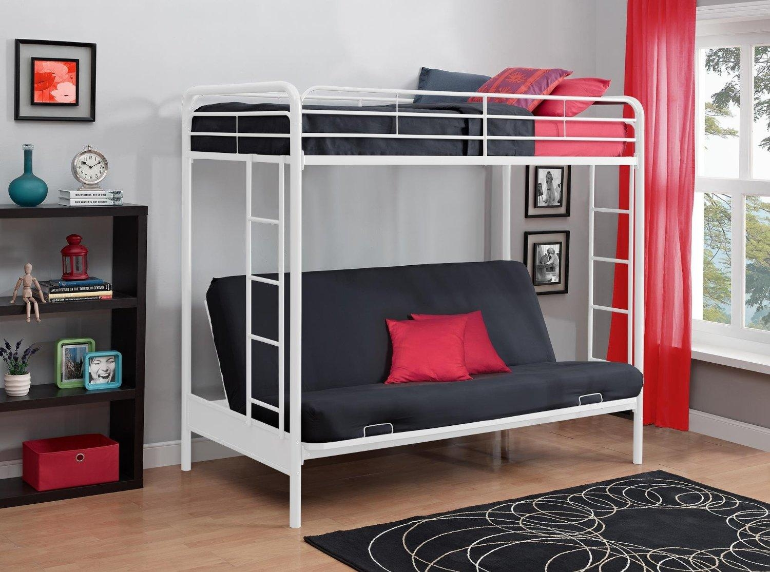 Total Fab: Metal & Wood Loft Beds With Sofa Underneath Throughout Bunk Bed  With Sofas