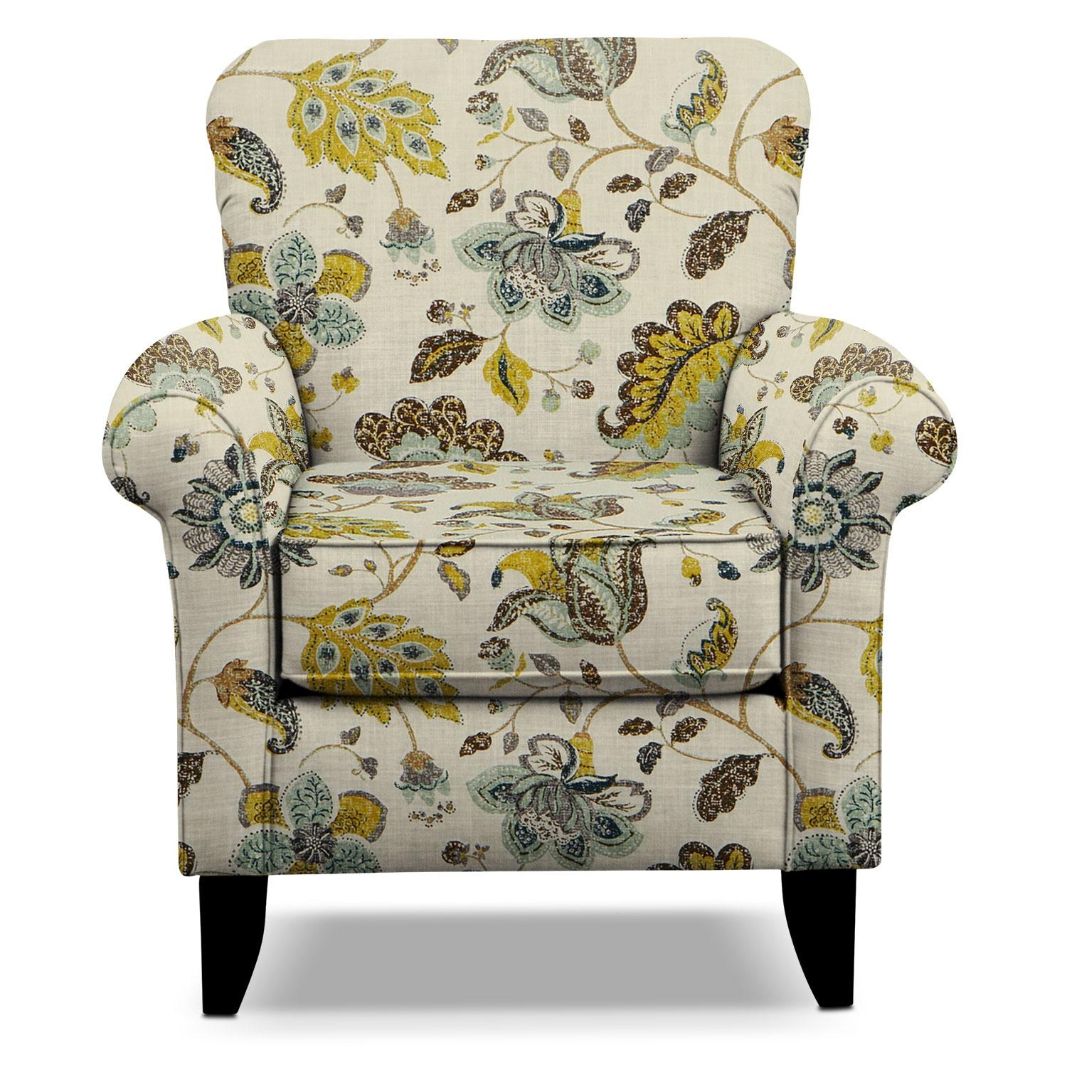 Tracy Accent Chair – Floral | Value City Furniture With Accent Sofa Chairs (Image 20 of 20)