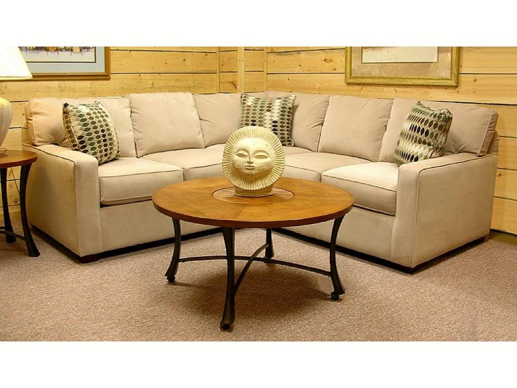 Traditional Design Living Room With Astounding Small Sectional Intended For Gold Sectional Sofa (View 9 of 15)