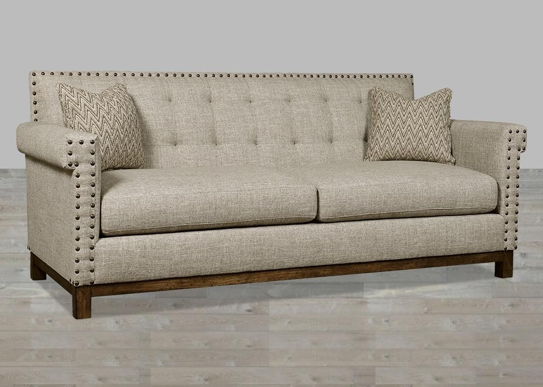 Traditional Linen Fabric Sofa With Huston's Arroyo Finish Inside Traditional Fabric Sofas (View 14 of 20)
