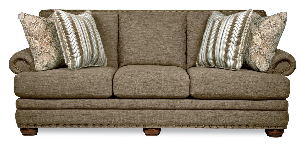Traditional Sofa With Comfort Core Cushions And Two Sizes Of Within Lazy Boy Sofas (Image 18 of 20)