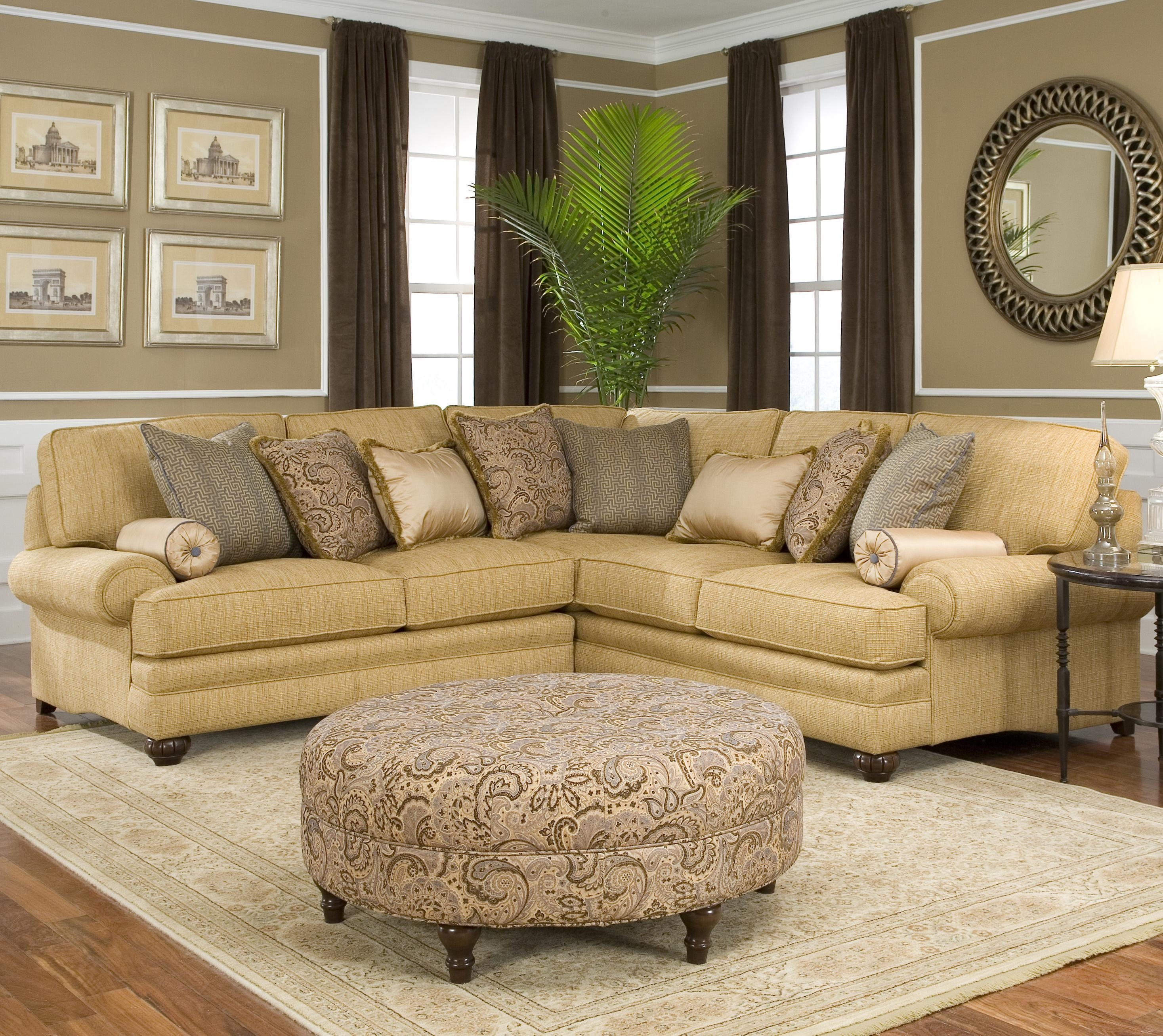 Traditional Styled Corner Sectional Sofasmith Brothers | Wolf For Smith Brothers Sofas (Image 20 of 20)