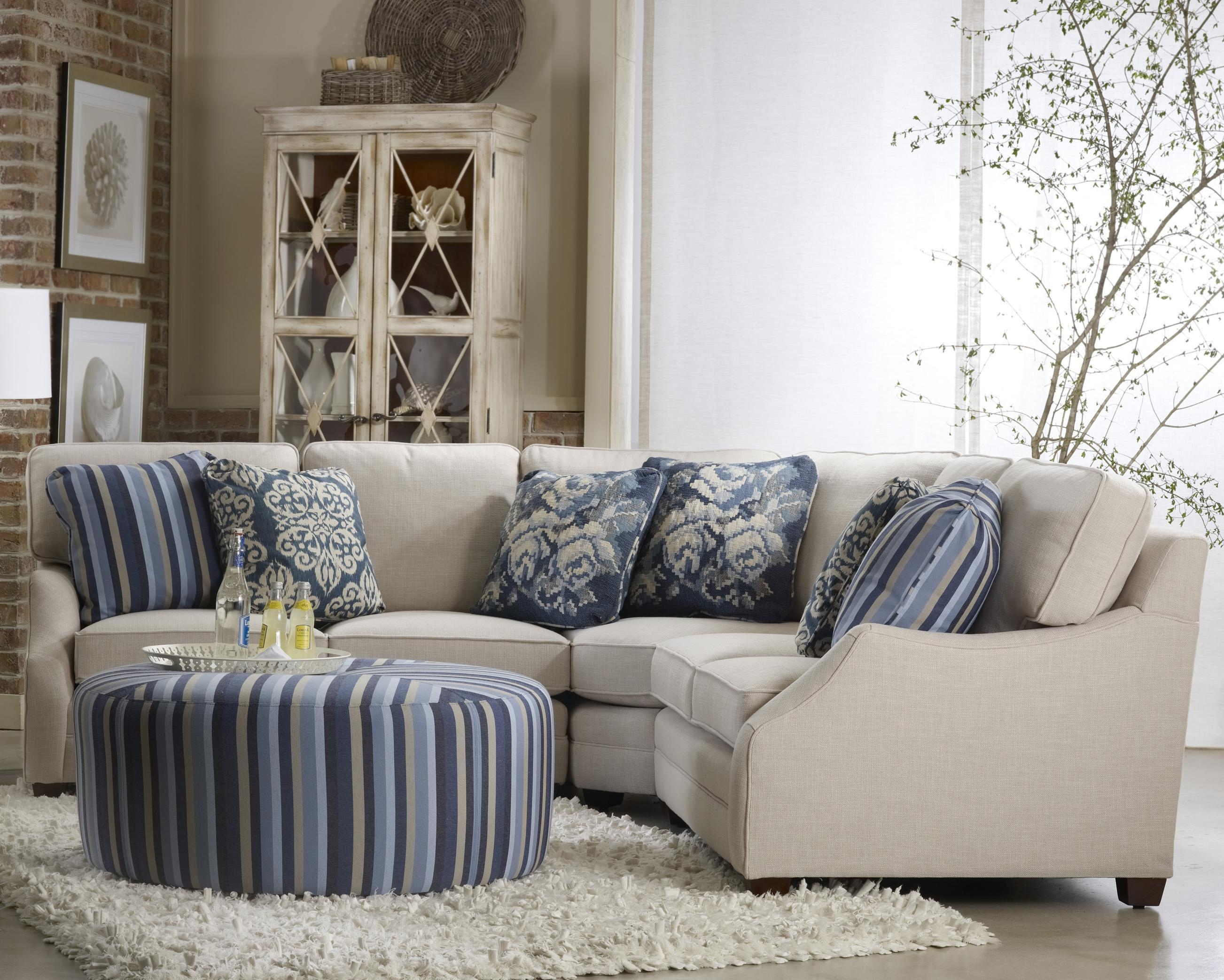 Transitinal Three Piece Sectional Sofasam Moore | Wolf And Within Sam Moore Sofas (View 12 of 20)