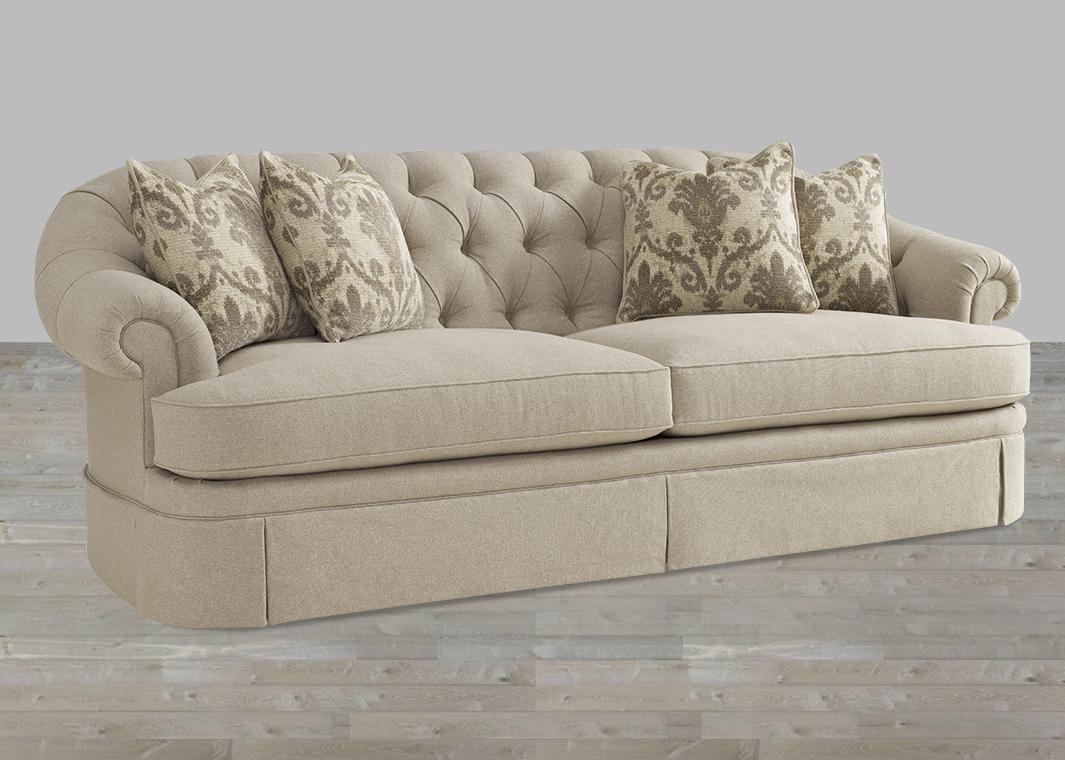 Transitional Camel Tweed Fabric Sofa With Light Beige Finish Pertaining To Tweed Fabric Sofas (Image 14 of 20)