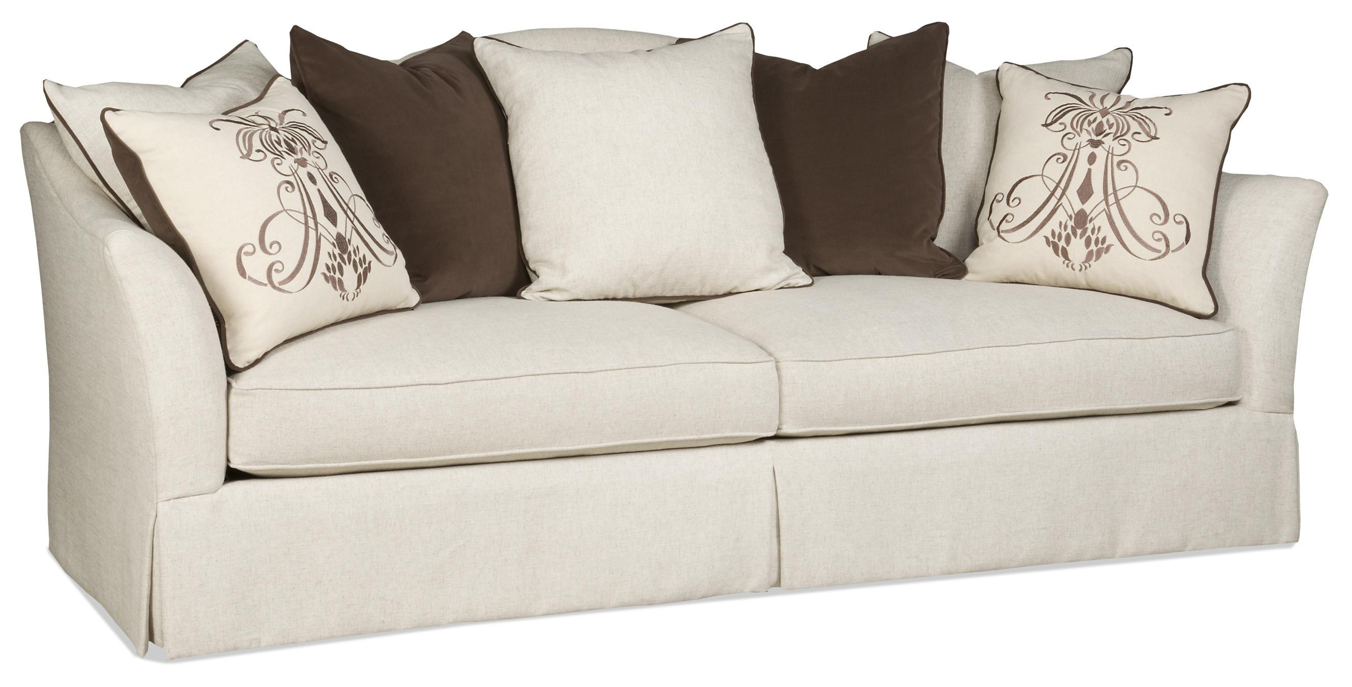 Transitional Scatterback Sofa With Flair Tapered Arms And Skirt Regarding Sam Moore Sofas (View 20 of 20)