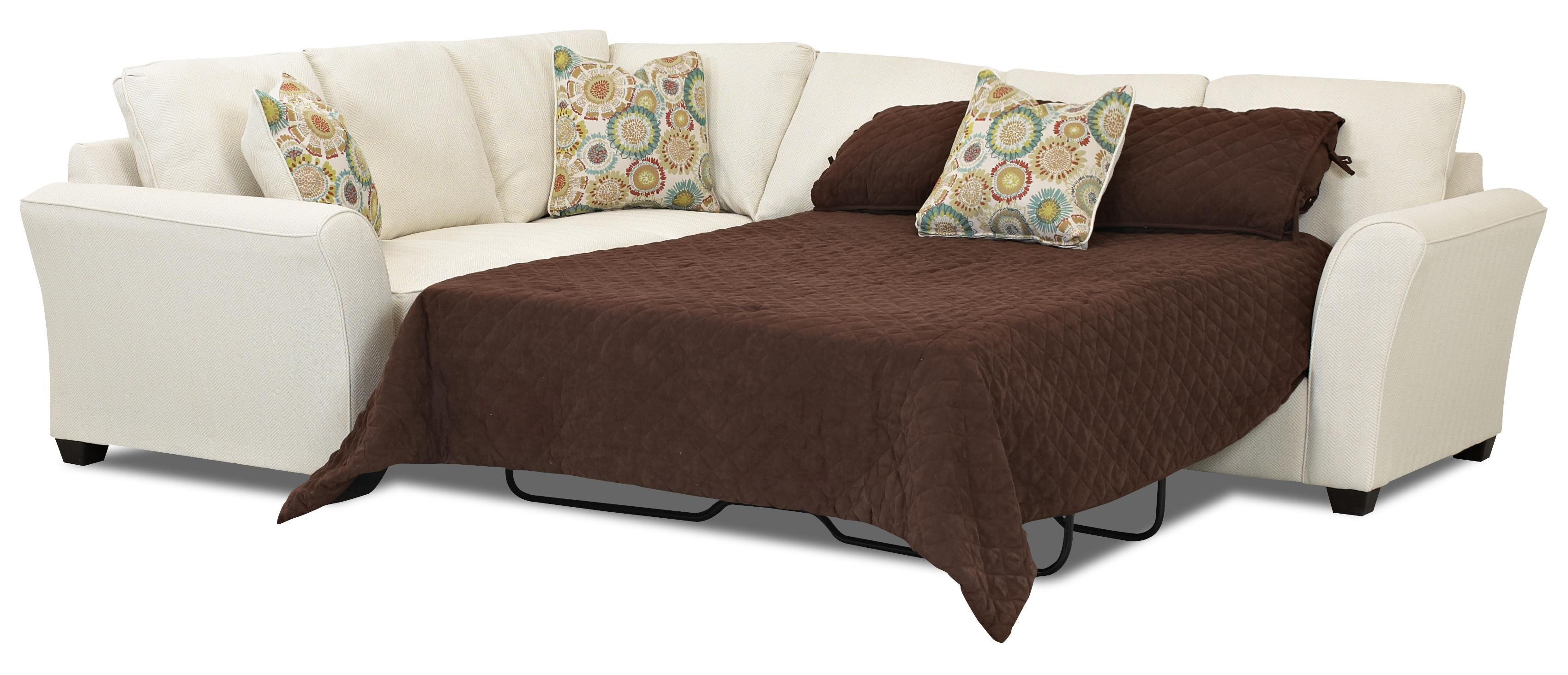 Transitional Sectional Sleeper Sofa With Dreamquest Mattress Within 3 Piece Sectional Sleeper Sofa (Image 14 of 15)