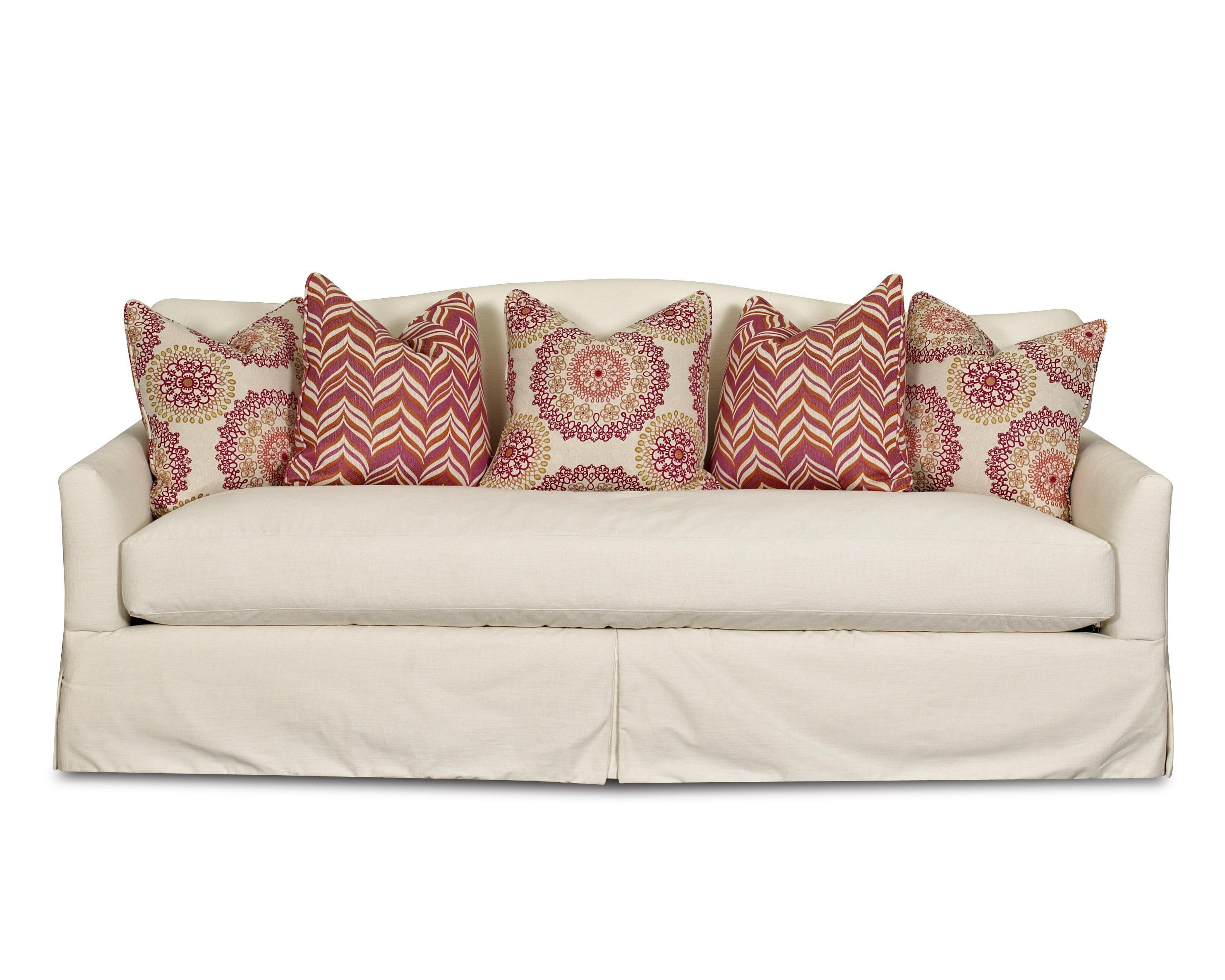 Transitional Stationary Sofa With Bench Seat Cushion, Camel Back For Bench Cushion Sofas (Image 19 of 20)