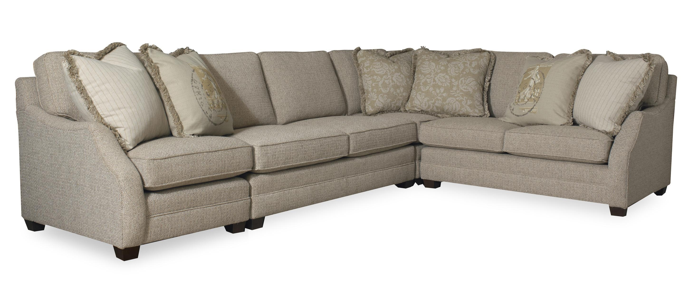 Transitional Three Piece Sectional Sofa With Raf Return In Sam Moore Sofas Image 20