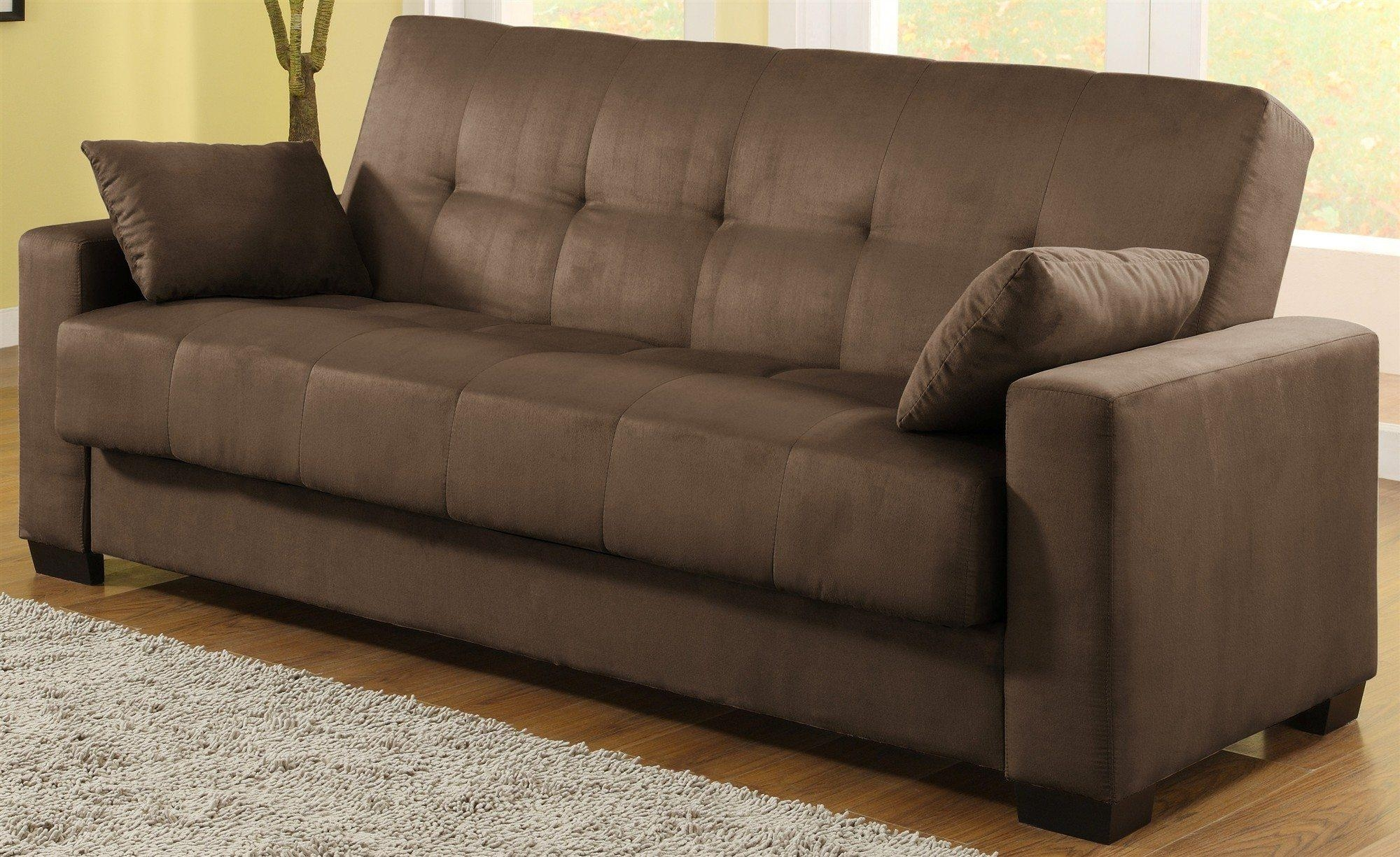 Trend Chai Microsuede Sofa Bed 94 With Additional Top Rated Sofa With Chai Microsuede Sofa Beds (View 7 of 20)