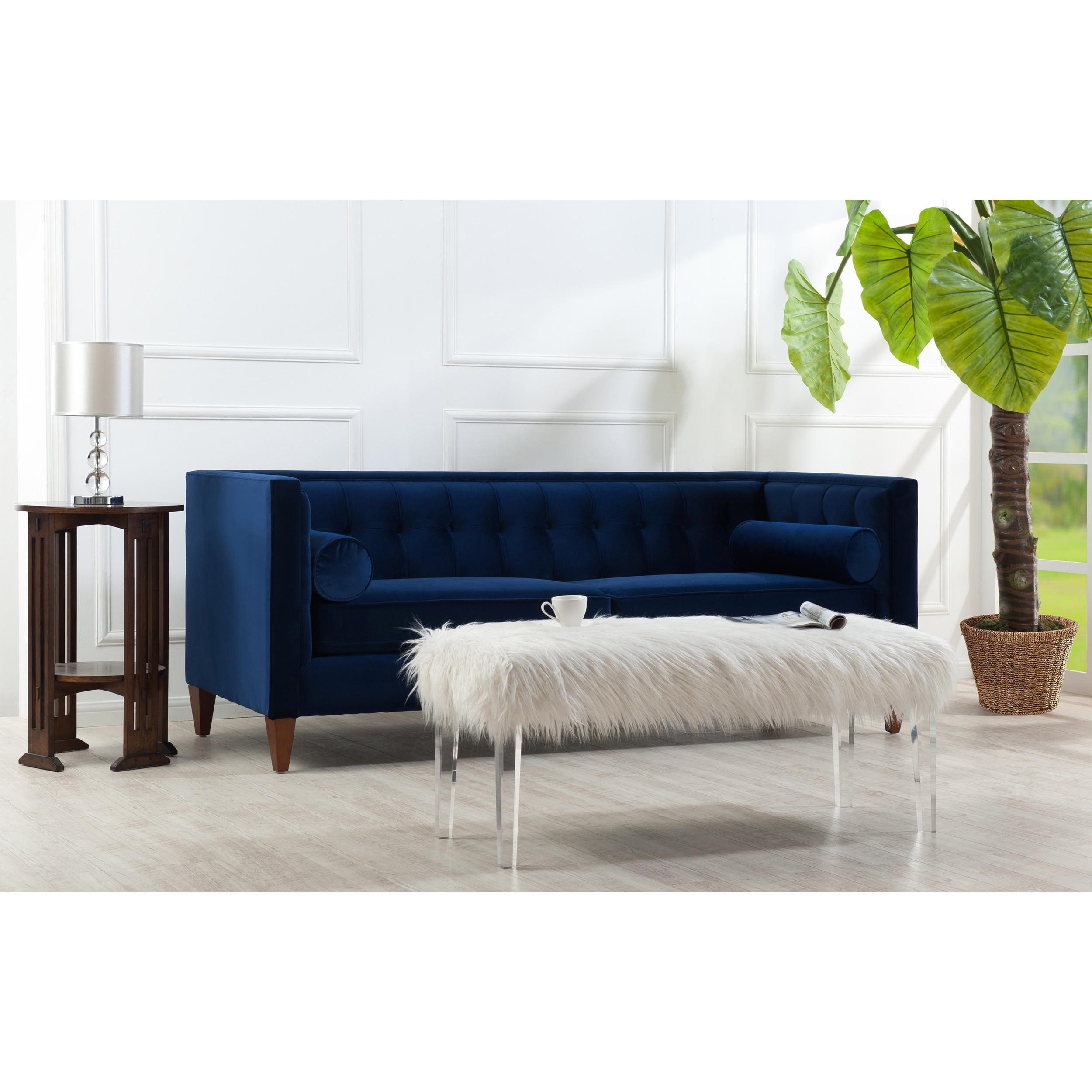 Trend Navy Tufted Sofa 94 On Sofas And Couches Set With Navy Pertaining To Sofa Trend (View 20 of 20)