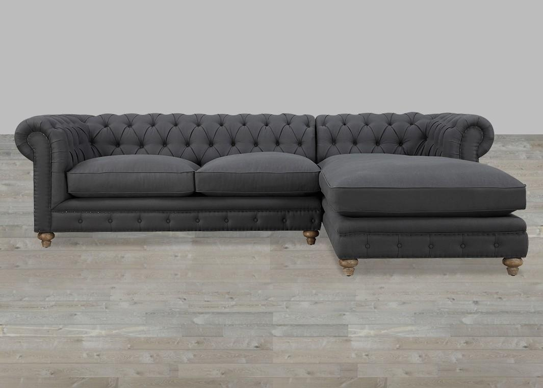 Tufted Chaise Sofa – Leather Sectional Sofa With Regard To Tufted Sectional Sofa Chaise (View 5 of 20)