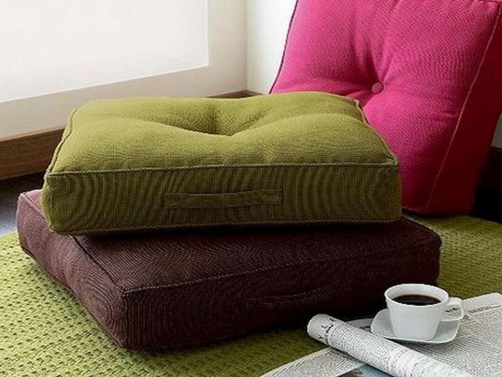 Tufted Floor Cushion | Cushions Decoration Inside Floor Cushion Sofas (Image 18 of 20)