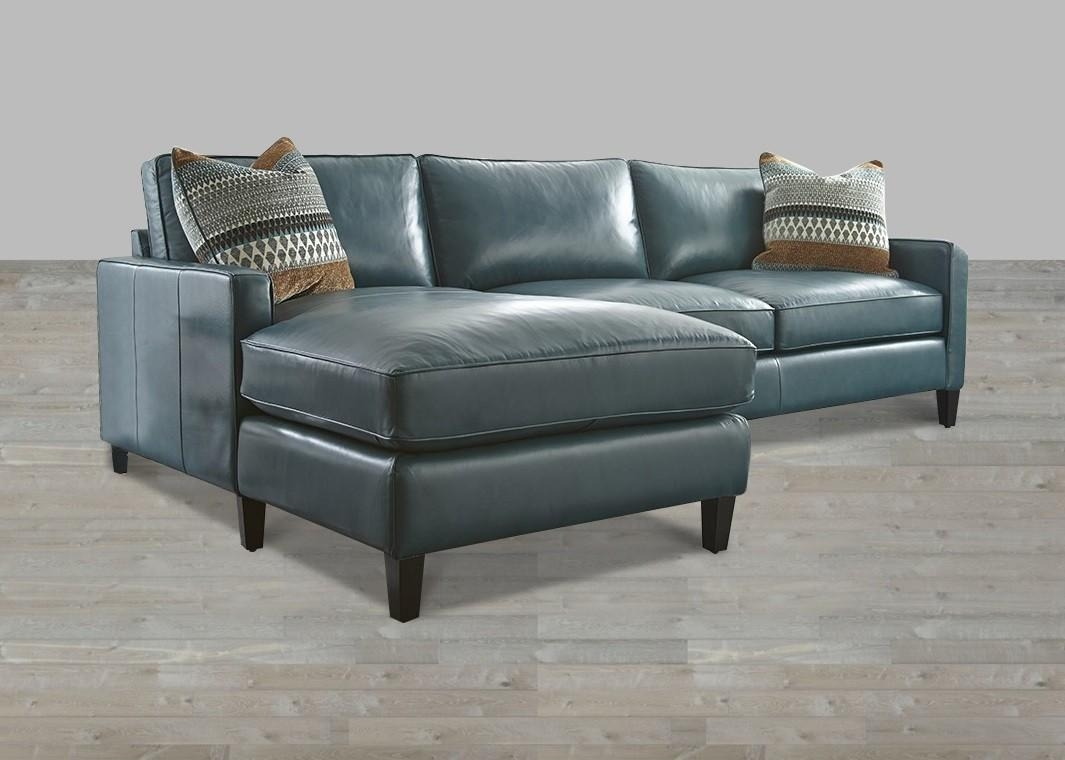 Turquoise Leather Sectional With Chaise Lounge For Blue Leather Sectional Sofas (Image 20 of 20)